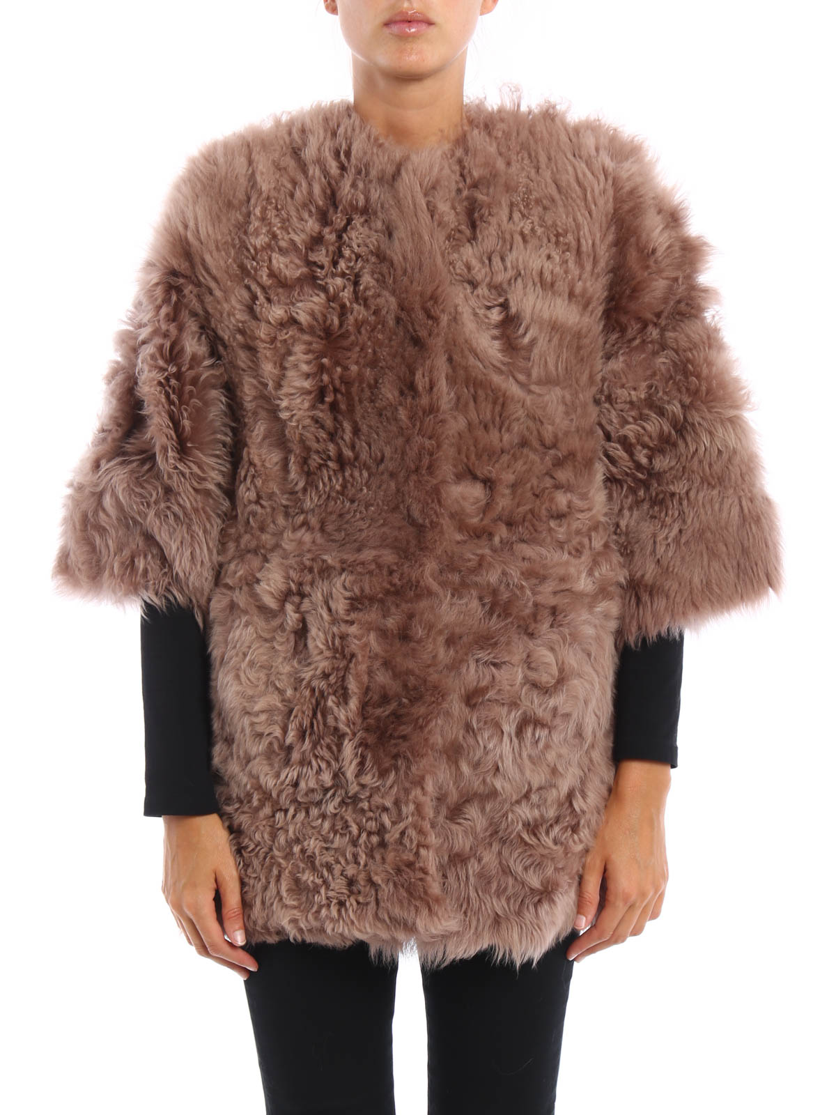 Curly shearling lambskin coat by S.W.O.R.D - Fur & Shearling Coats ...