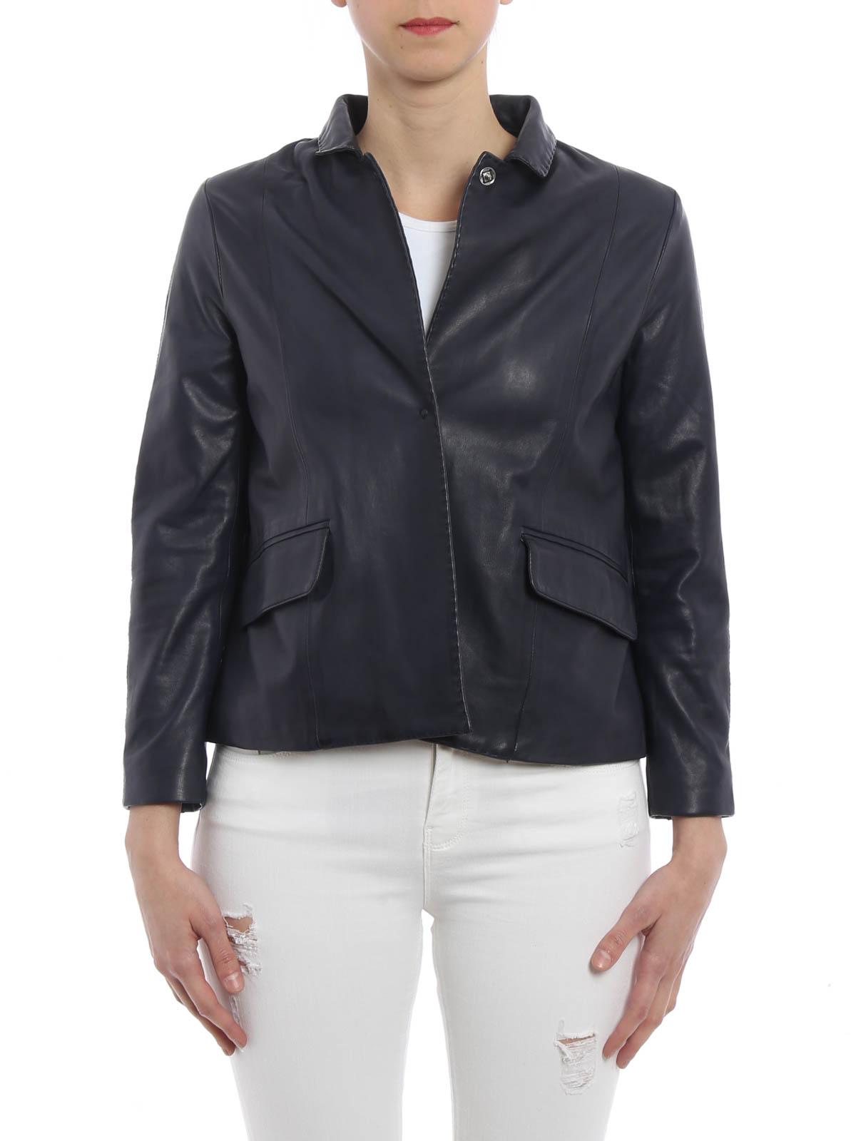 00a80fdc732a S.W.O.R.D 6.6.44 - Cropped napa jacket - leather jacket - 9145 IMPACT