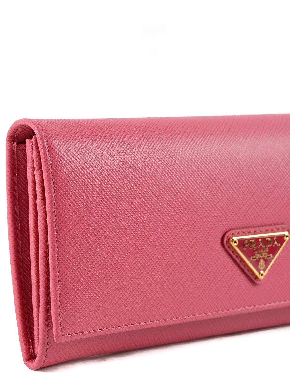 c69b8ea984a7 Prada - Saffiano leather flap wallet - wallets   purses - 1MH132QHH505