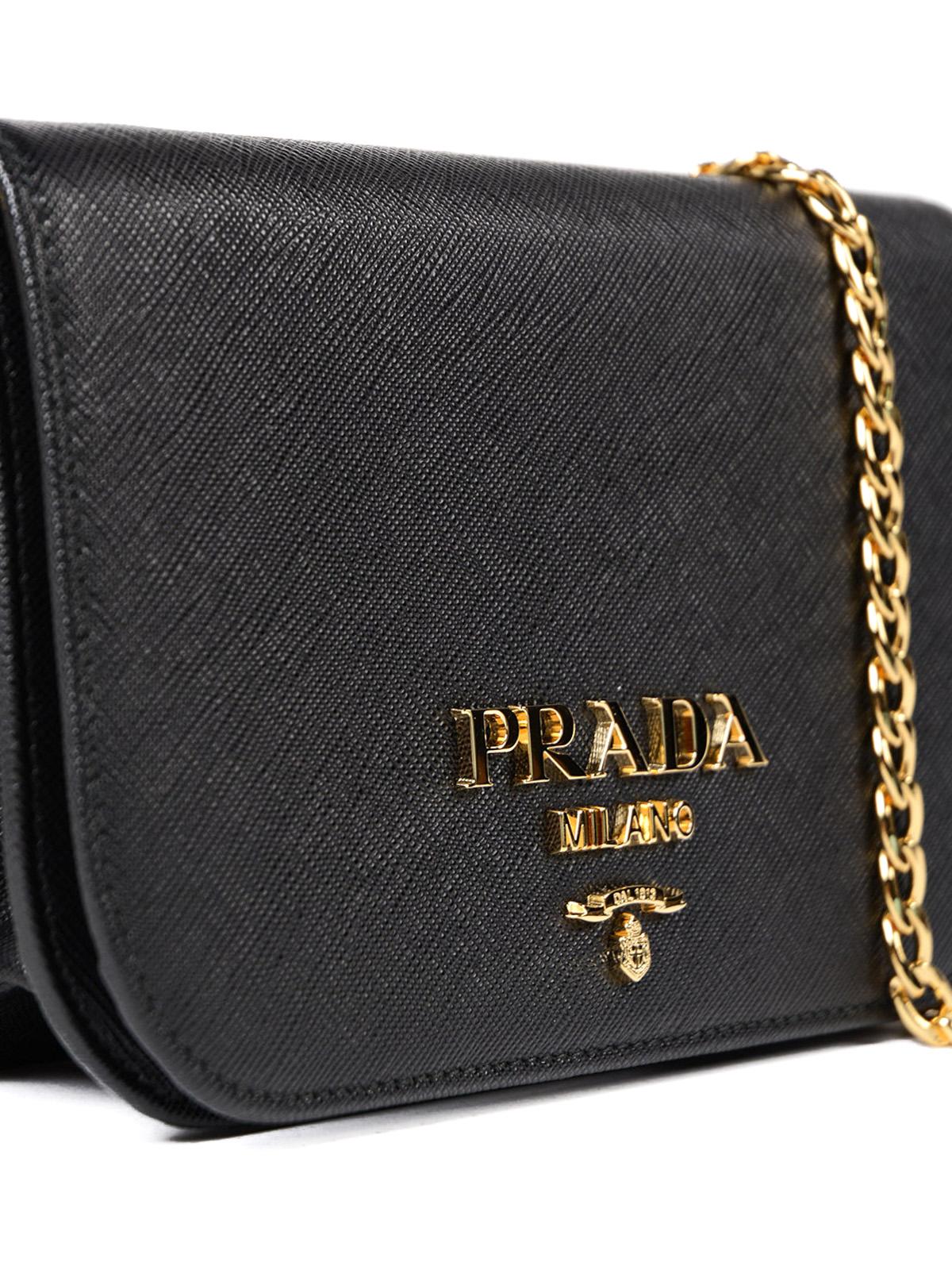de16225d2b Prada - Saffiano leather small black bag - shoulder bags - 1BH019NZV002