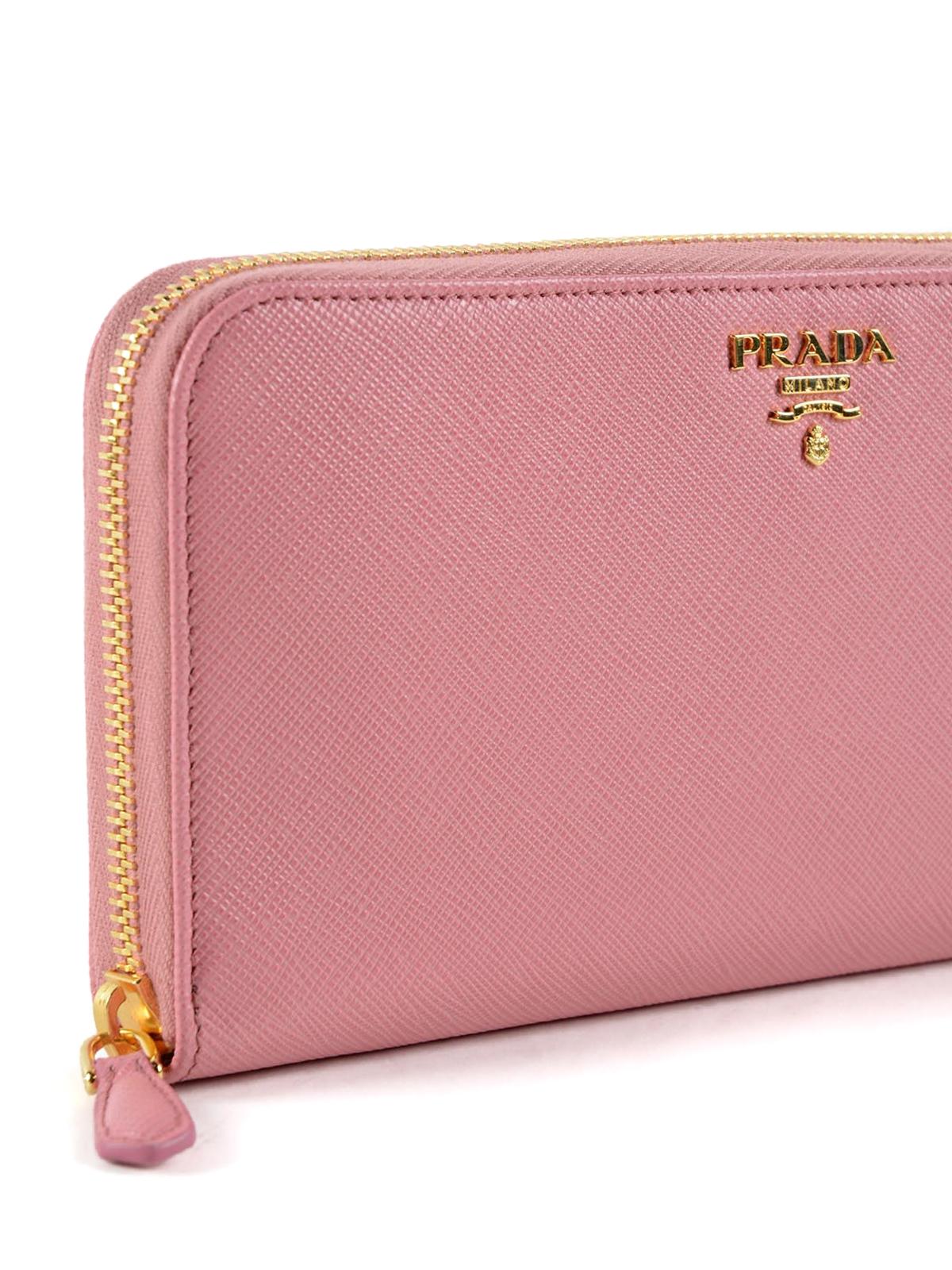 d0c85e84a1db Prada - Portemonnaie Fur Damen - Pink - Portemonnaies und Geldbörsen ...