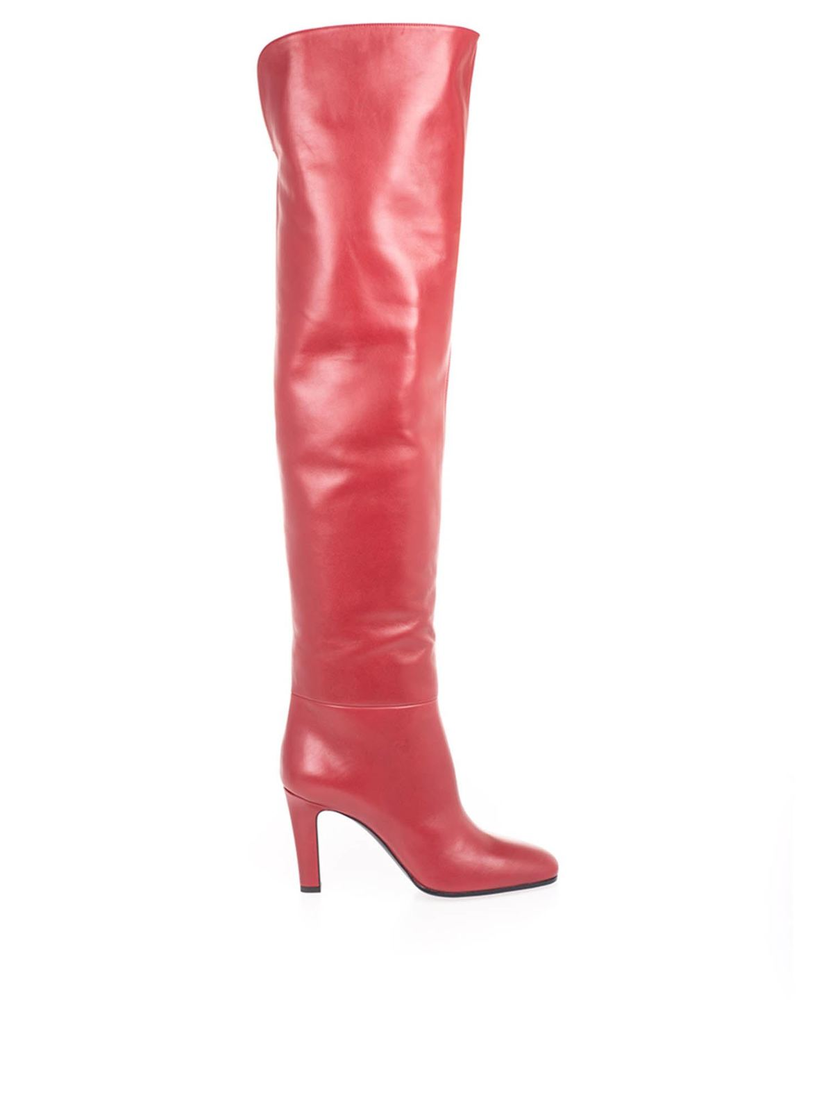 Saint Laurent Leathers JANE BOOTS IN RED