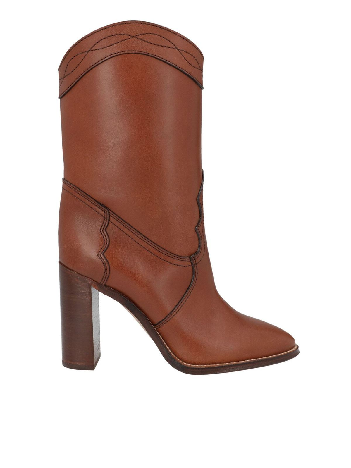 SAINT LAURENT KATE BOOTS IN BROWN