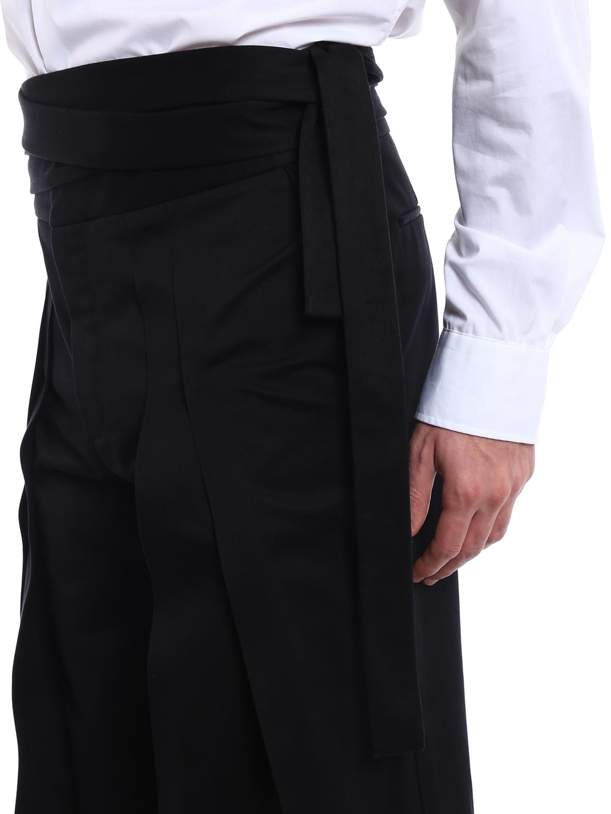 Casual In Cotone Hakama Pantaloni Laurent Saint shCQrtd