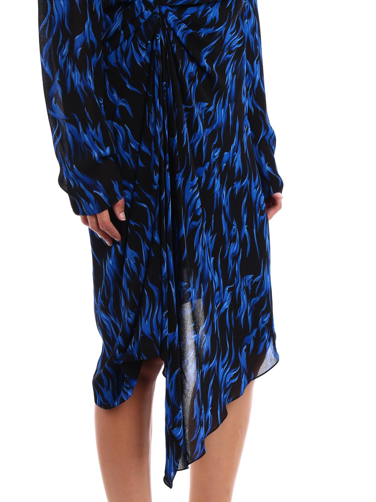 e05e5d1684b SAINT LAURENT buy online Patterned crepe asymmetric dress. SAINT LAURENT: knee  length dresses ...