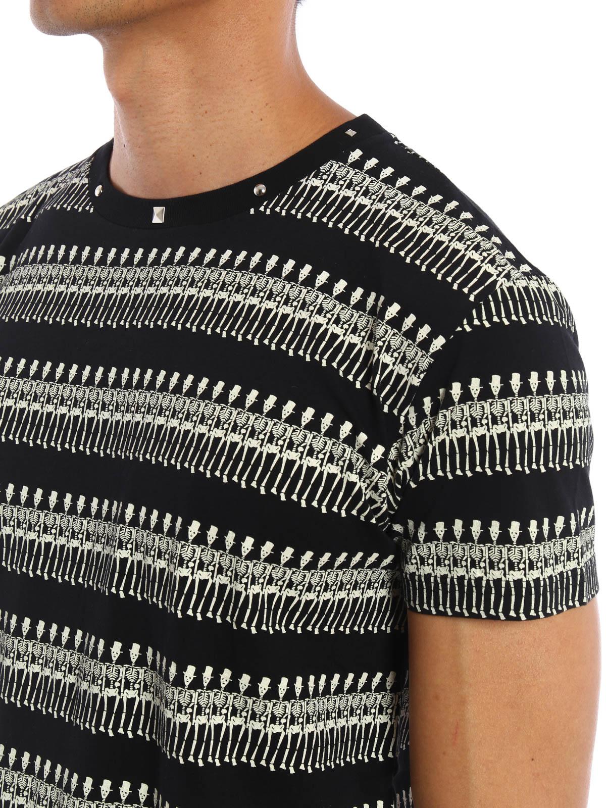 e5e42ab787 Saint Laurent - Skeleton and studs T-shirt - t-shirts - 436307YB1CF1058
