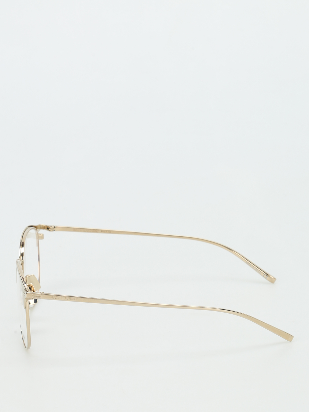 968f3c6dd3 Saint Laurent - Gold tone titanium optical glasses - glasses - SL149T002