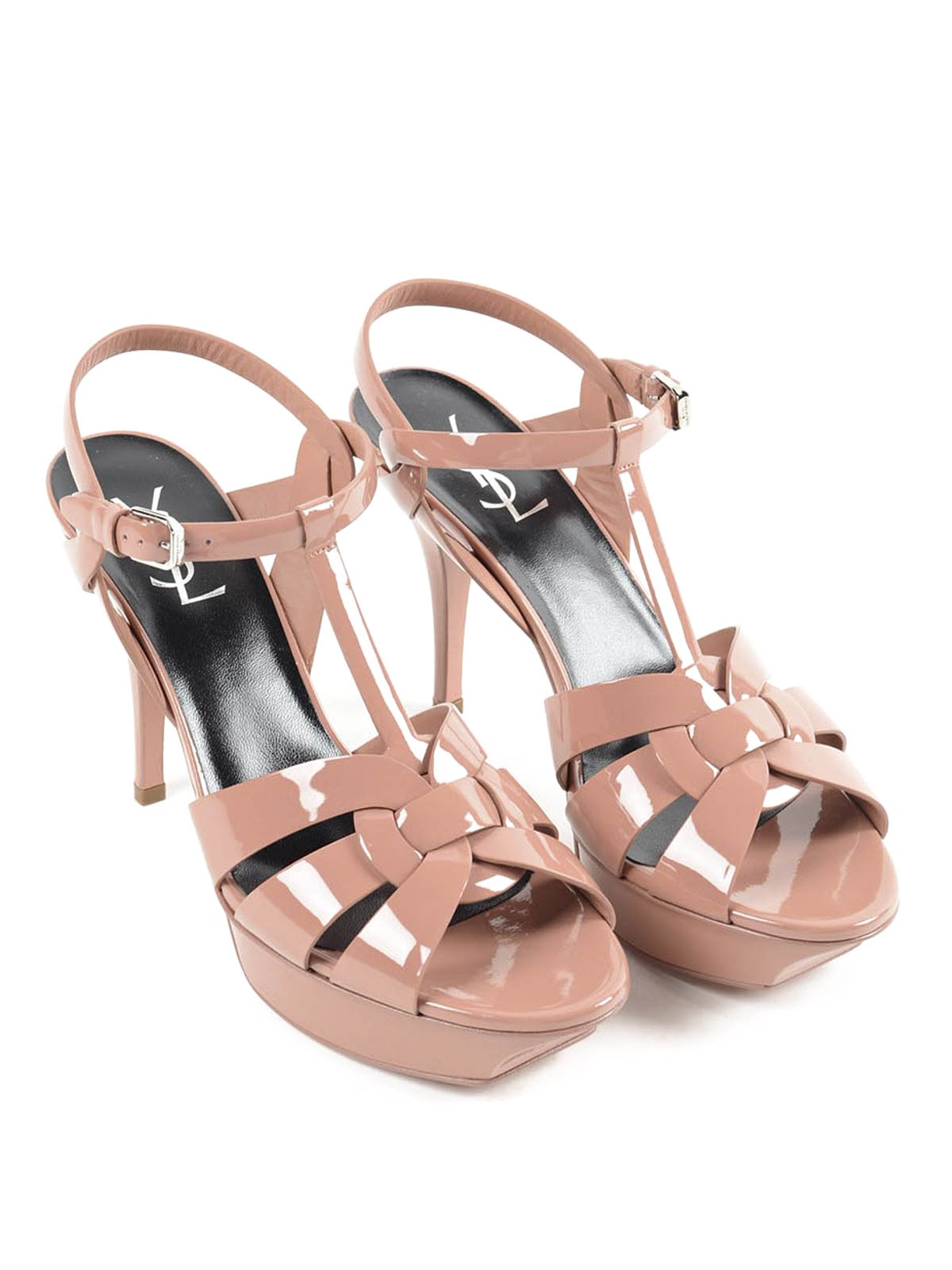 021f66e71df SAINT LAURENT: sandals online - Tribute 75 patent leather sandals