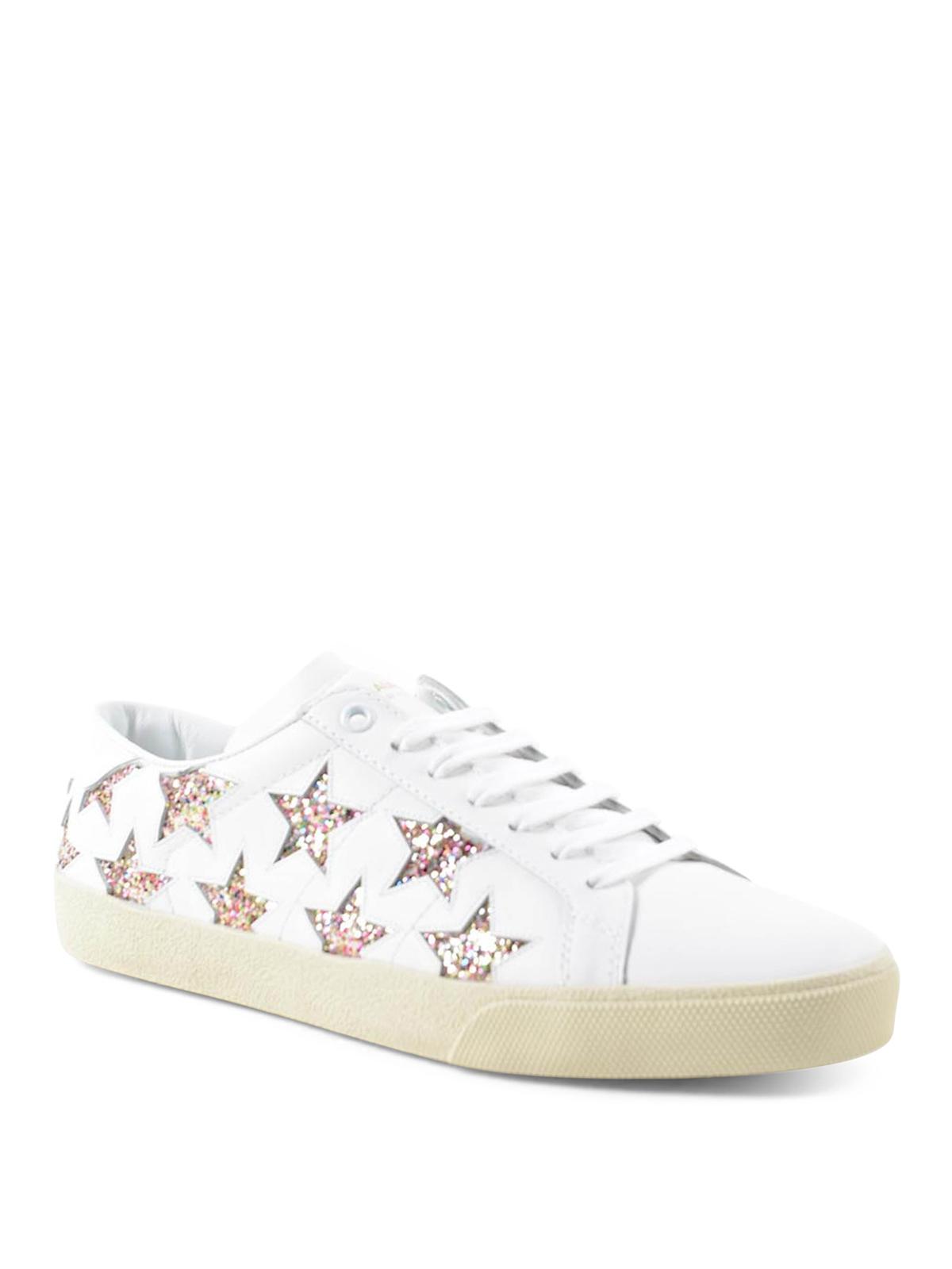 Saint Laurent - Star glitter sneakers