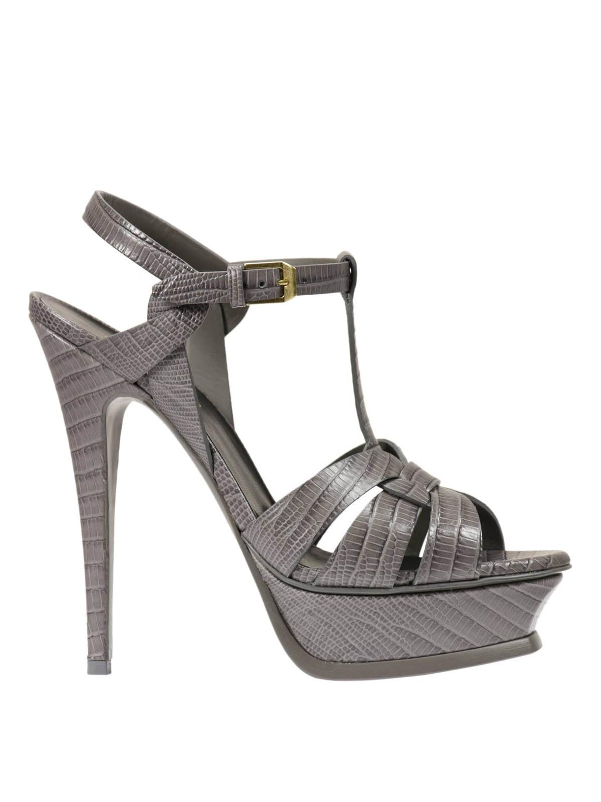 Saint Laurent Tribute Leather Sandals Sandals