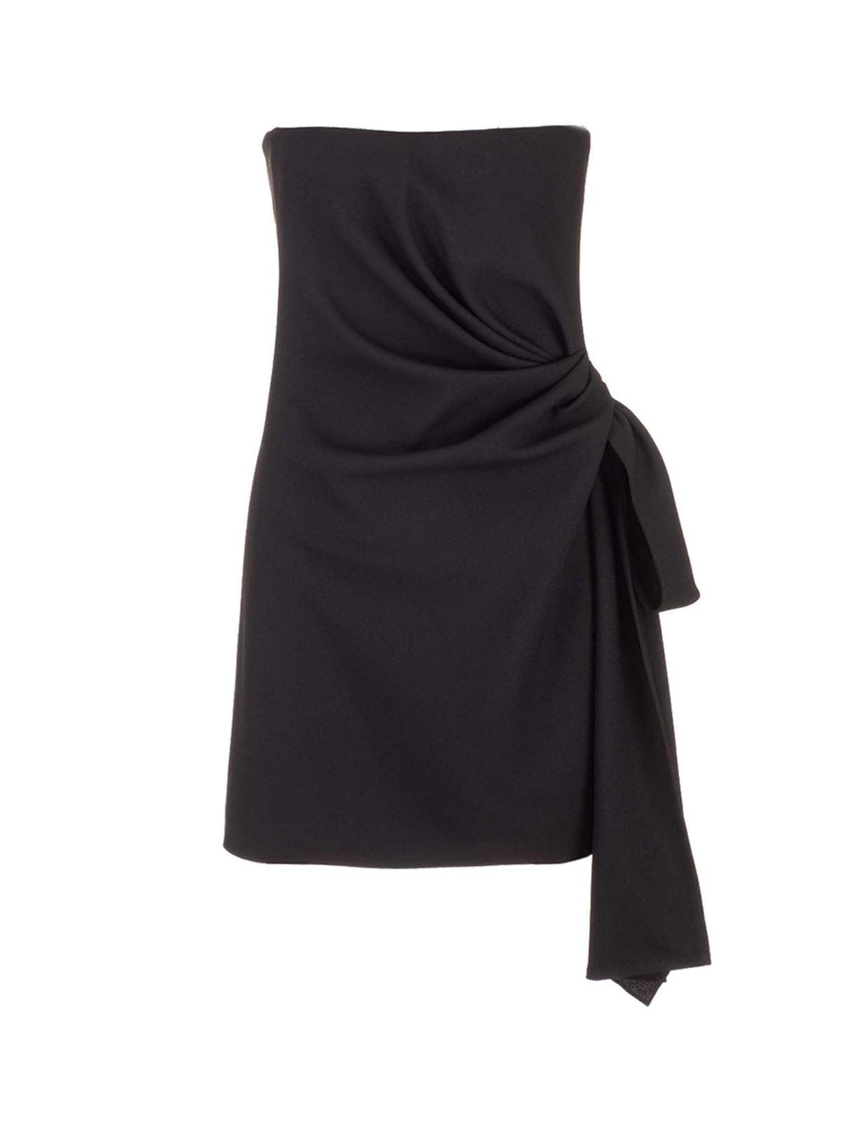 Saint Laurent KNOT SHORT DRESS IN BLACK