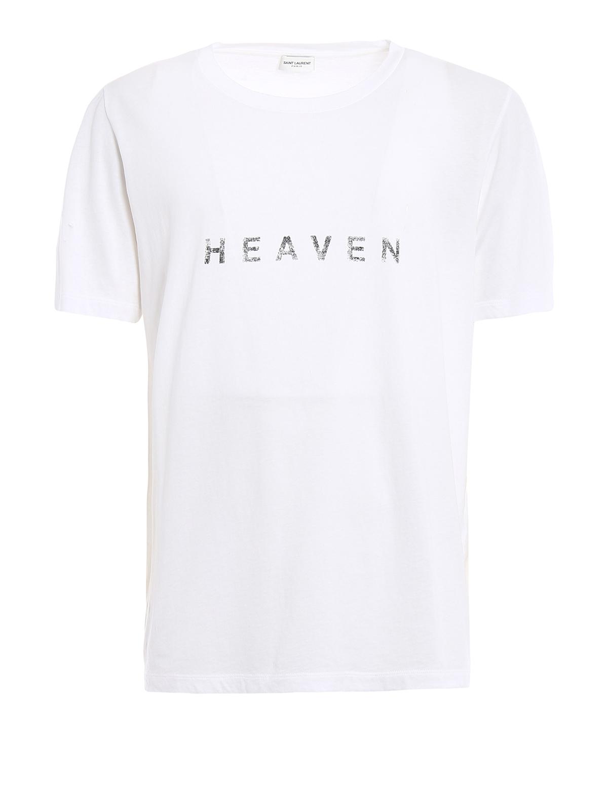 T shirt con stampa sbiadita heaven saint laurent t shirt for Saint laurent t shirt