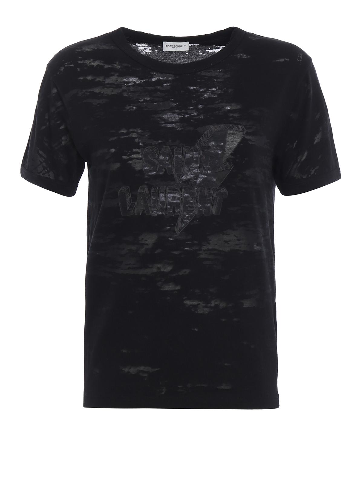 Lightning bolt print used t shirt by saint laurent t for Saint laurent t shirt