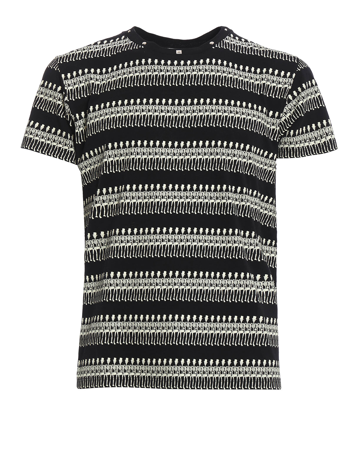 Skeleton And Studs T Shirt By Saint Laurent T Shirts Ikrix