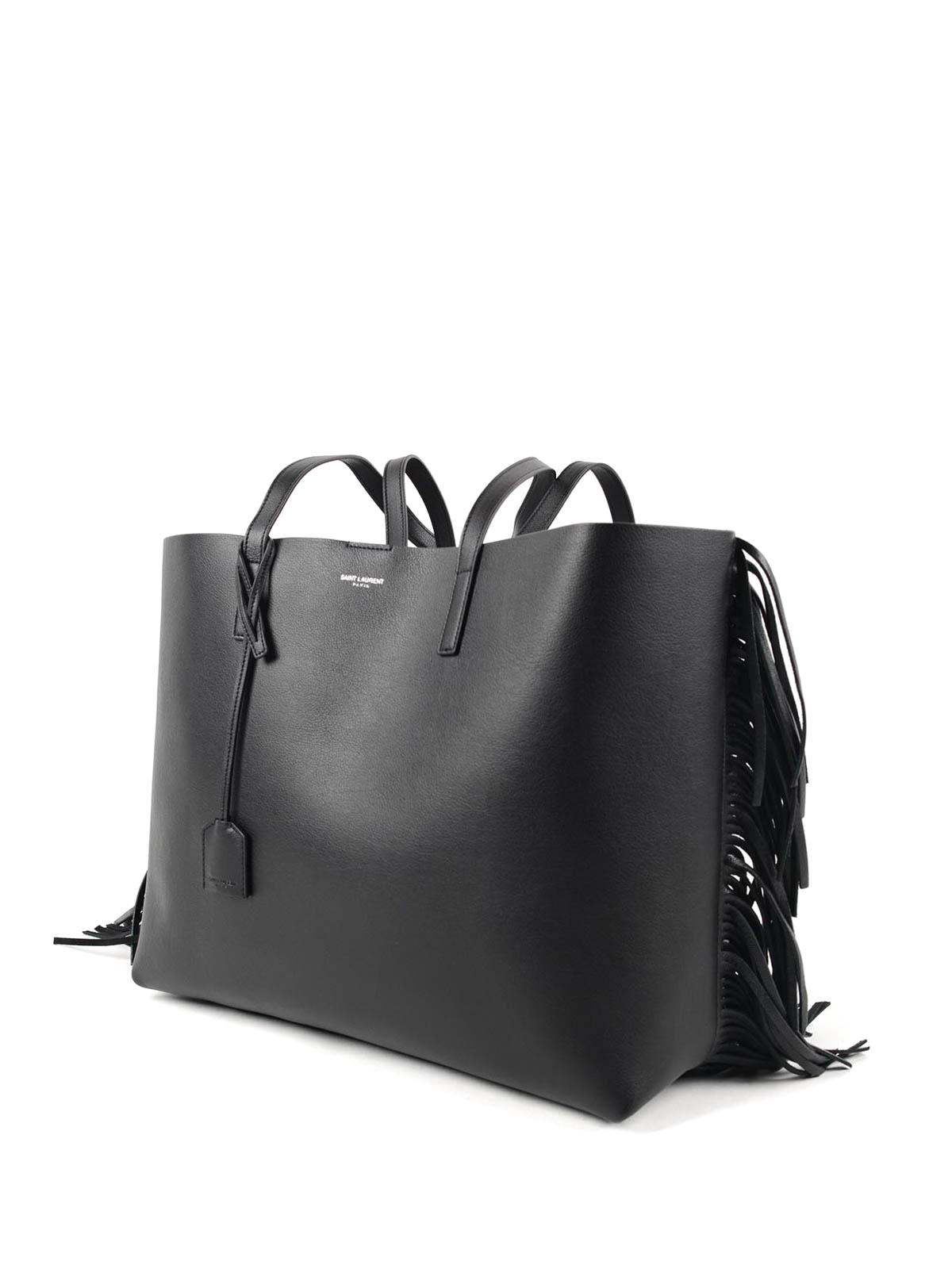 d3e75e8ecd39 Saint Laurent Black Fringe Tote | Stanford Center for Opportunity ...