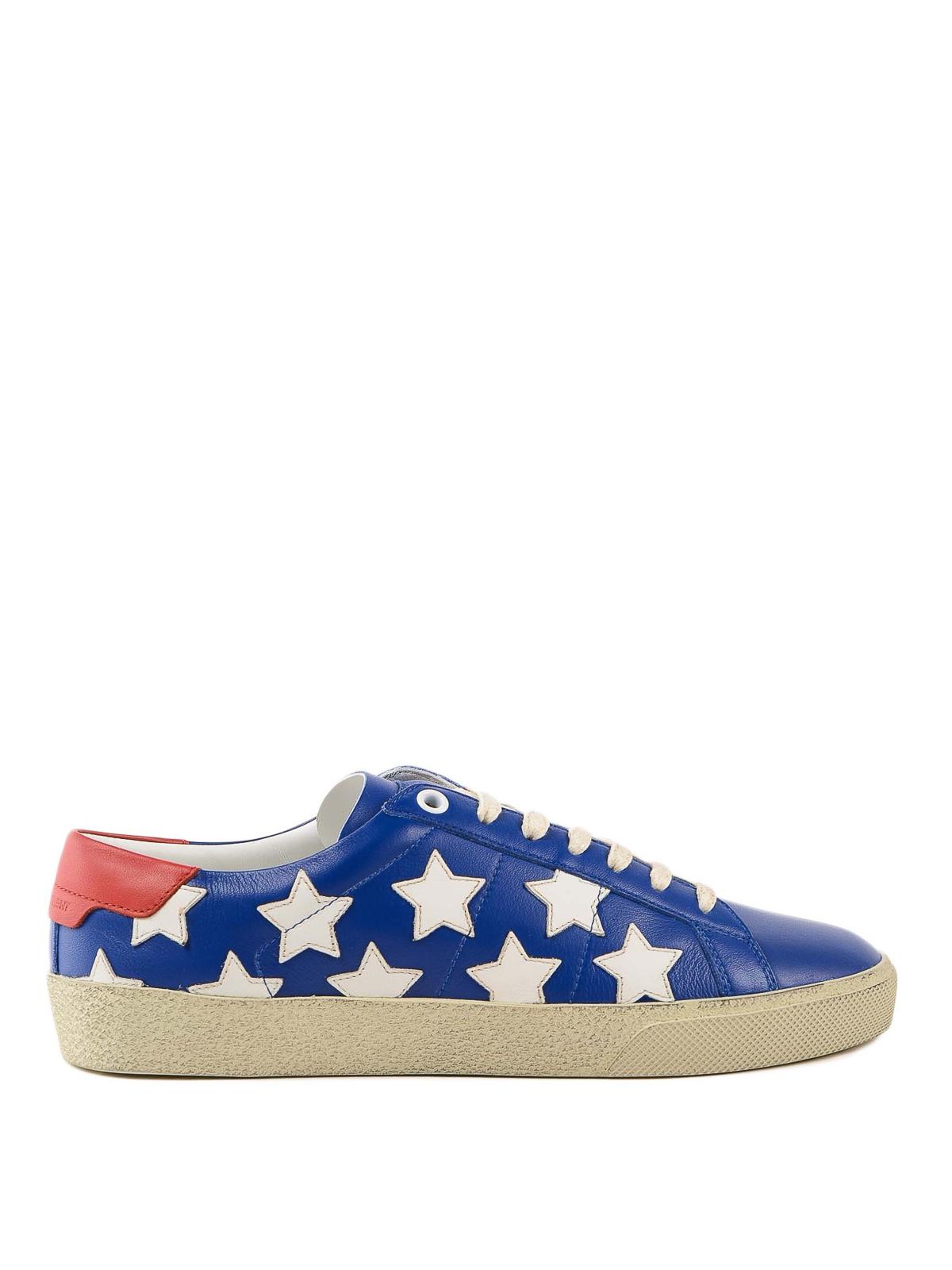 79392a7a854d Saint Laurent - Court Classic white stars blue sneakers - trainers ...