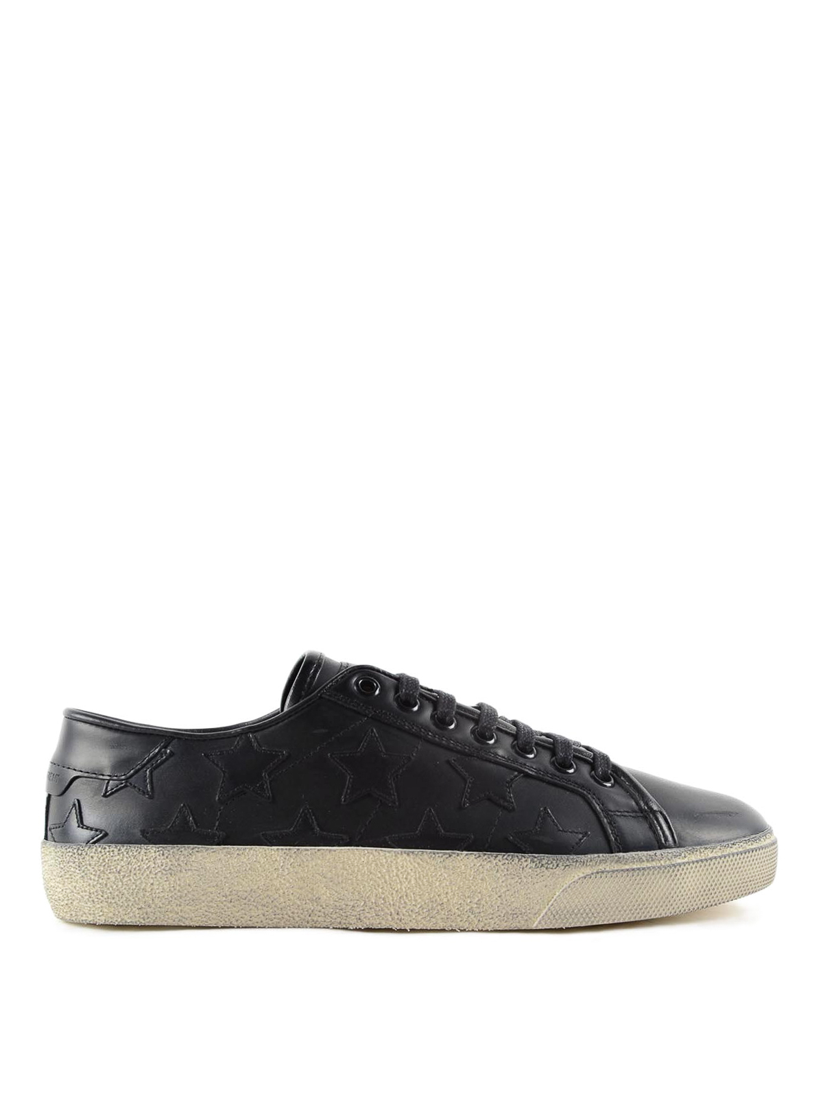 star leather sneakers by saint laurent trainers ikrix. Black Bedroom Furniture Sets. Home Design Ideas
