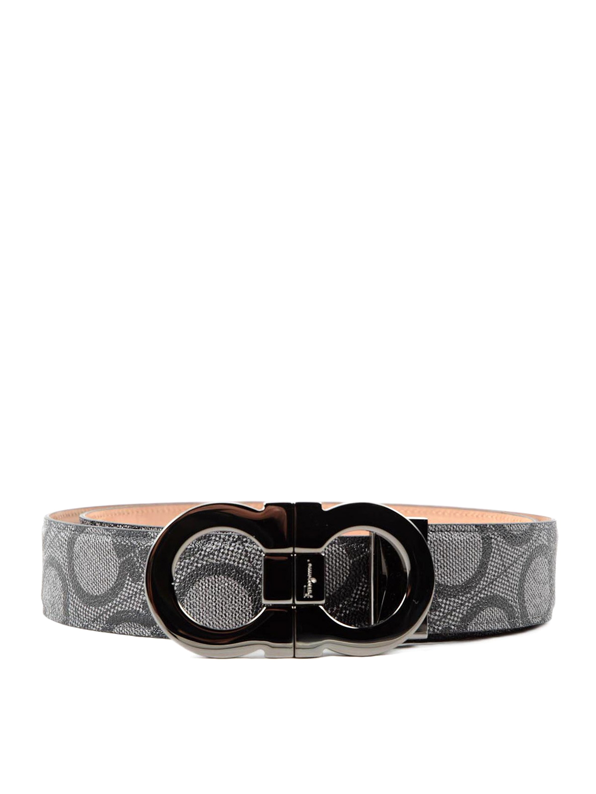 gancio print leather belt by salvatore ferragamo