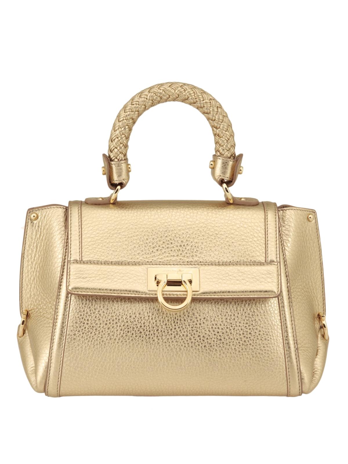 533cd4ef417c ... online da953 da0f1  SALVATORE FERRAGAMO bowling bags - Sofia woven  handle leather bag finest selection 685b9 b6e3f ...