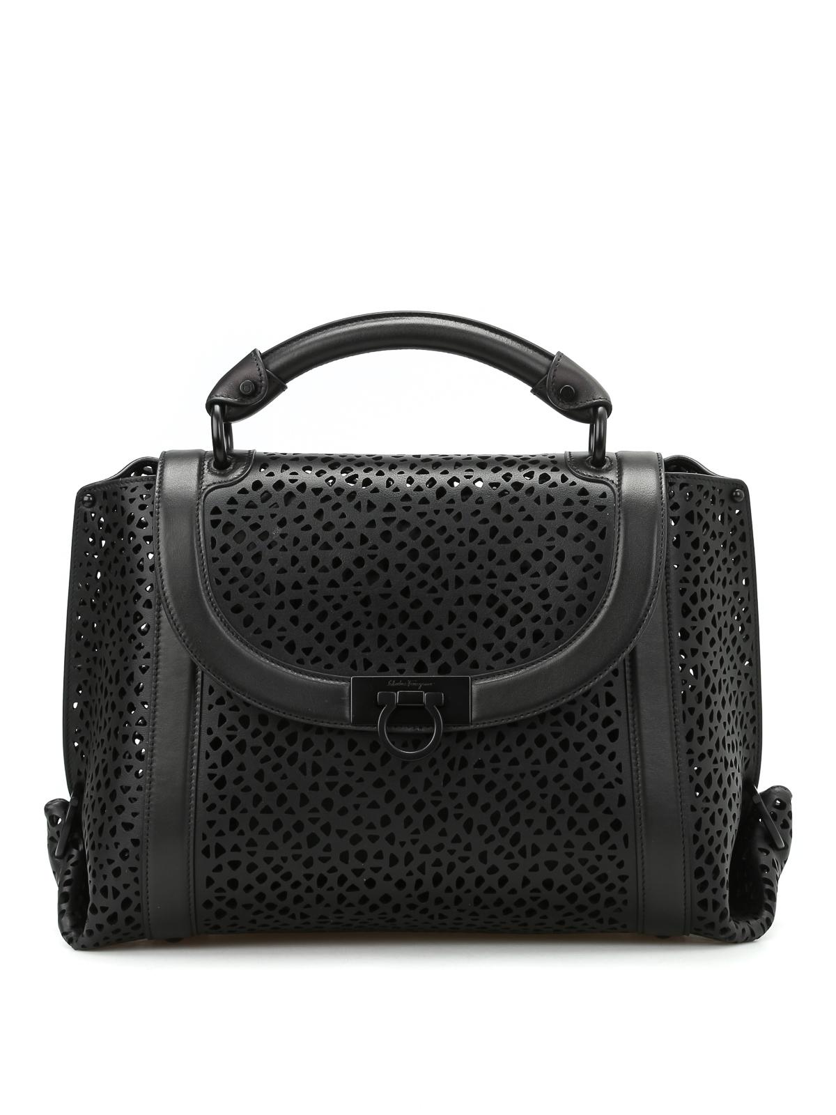 6783f9342a36 ... SALVATORE FERRAGAMO bowling bags - Soft Sofia laser cut medium handbag  reputable site 61bb4 533be ...