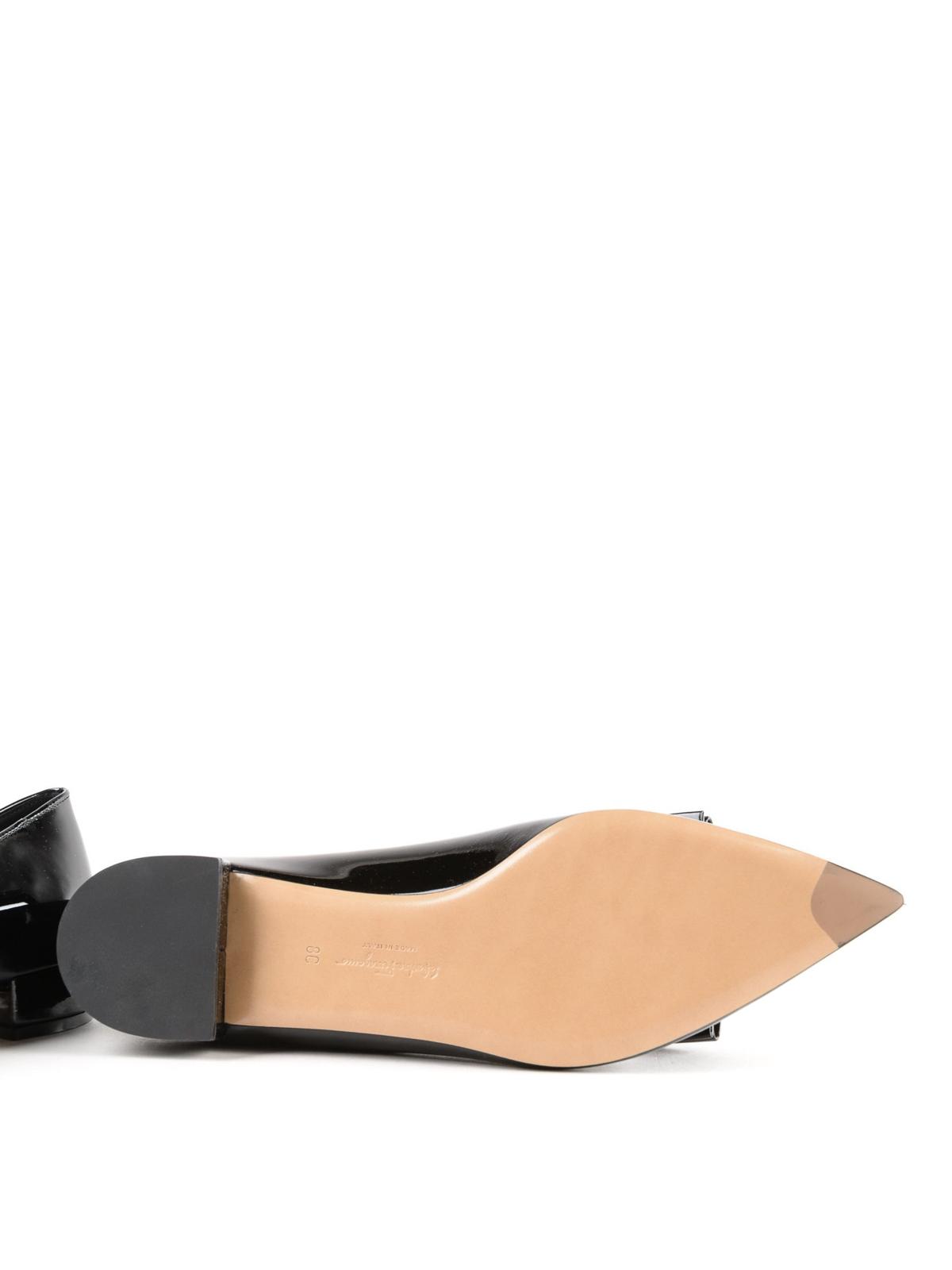 a7beb78e9513 Salvatore Ferragamo - Alice patent leather slippers - Loafers ...