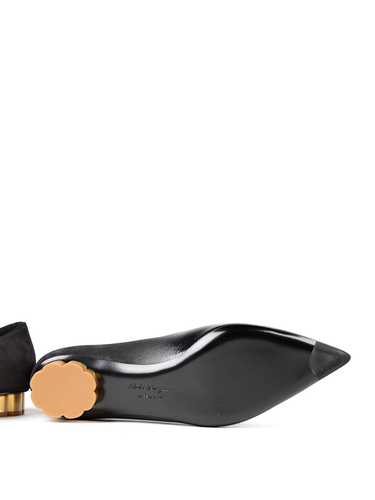 2f91af6c9 SALVATORE FERRAGAMO buy online Bari flower heel flats. SALVATORE FERRAGAMO: flat  shoes ...