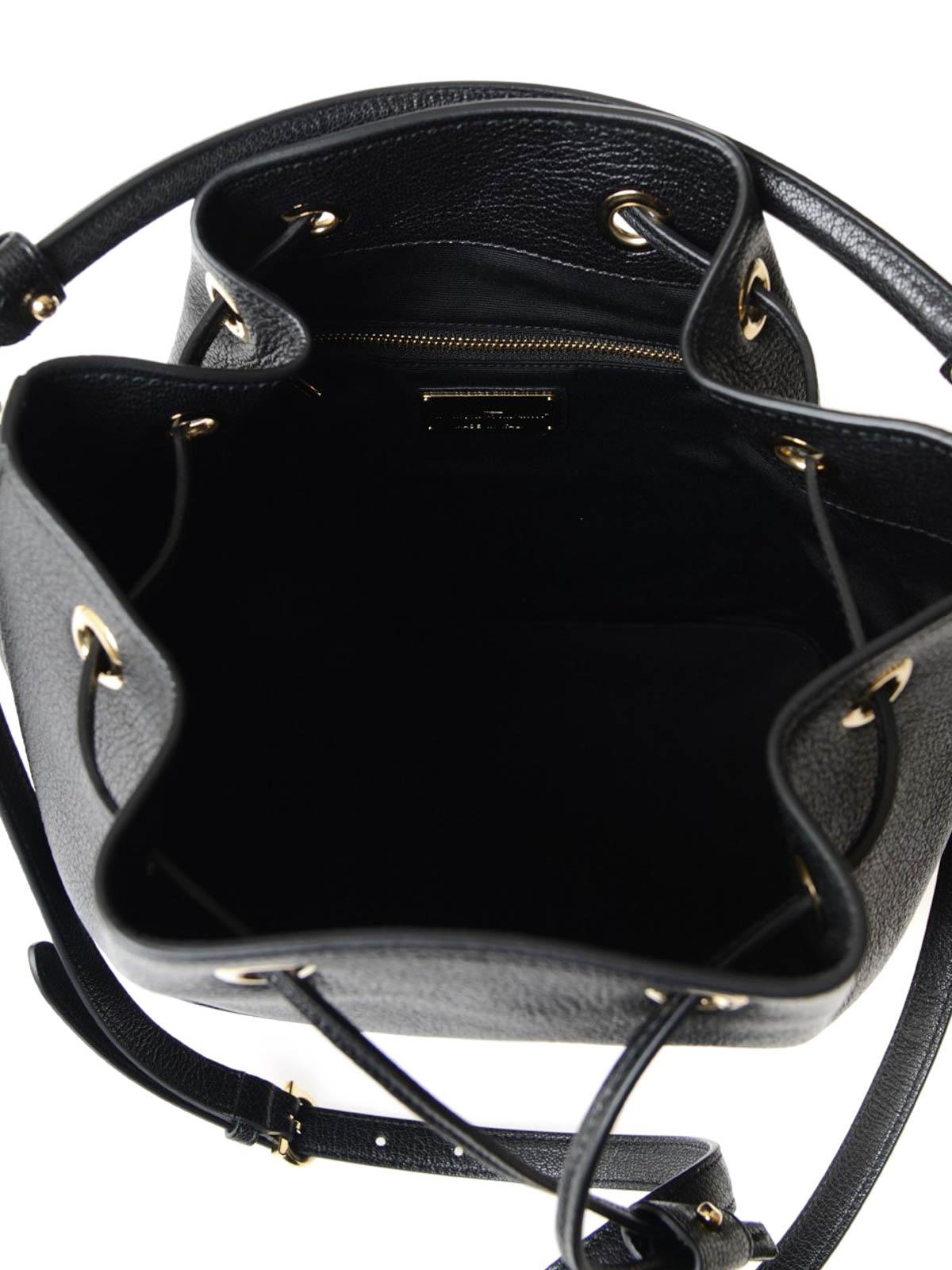 25899ac393fe Salvatore Ferragamo - Bucket-Bag Millie - Schwarz - Bucket-bags ...