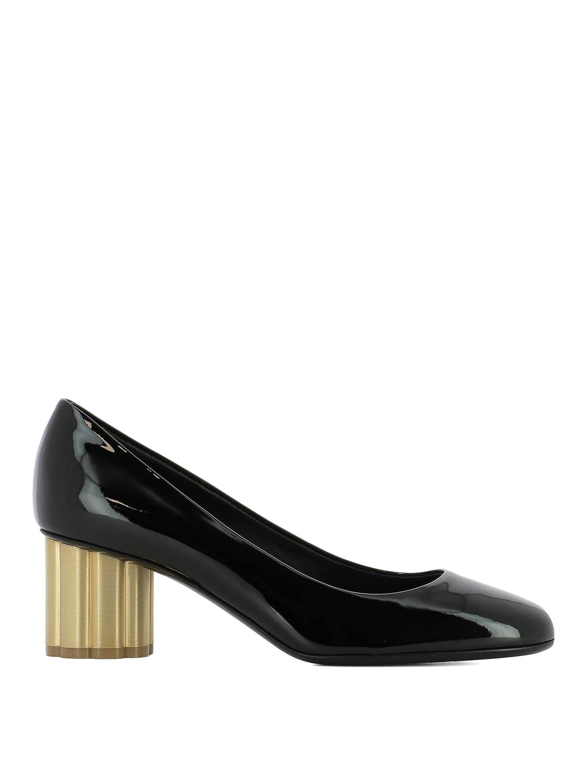 36b85755f397 Salvatore Ferragamo - Lucca 55 patent leather pumps - court shoes ...