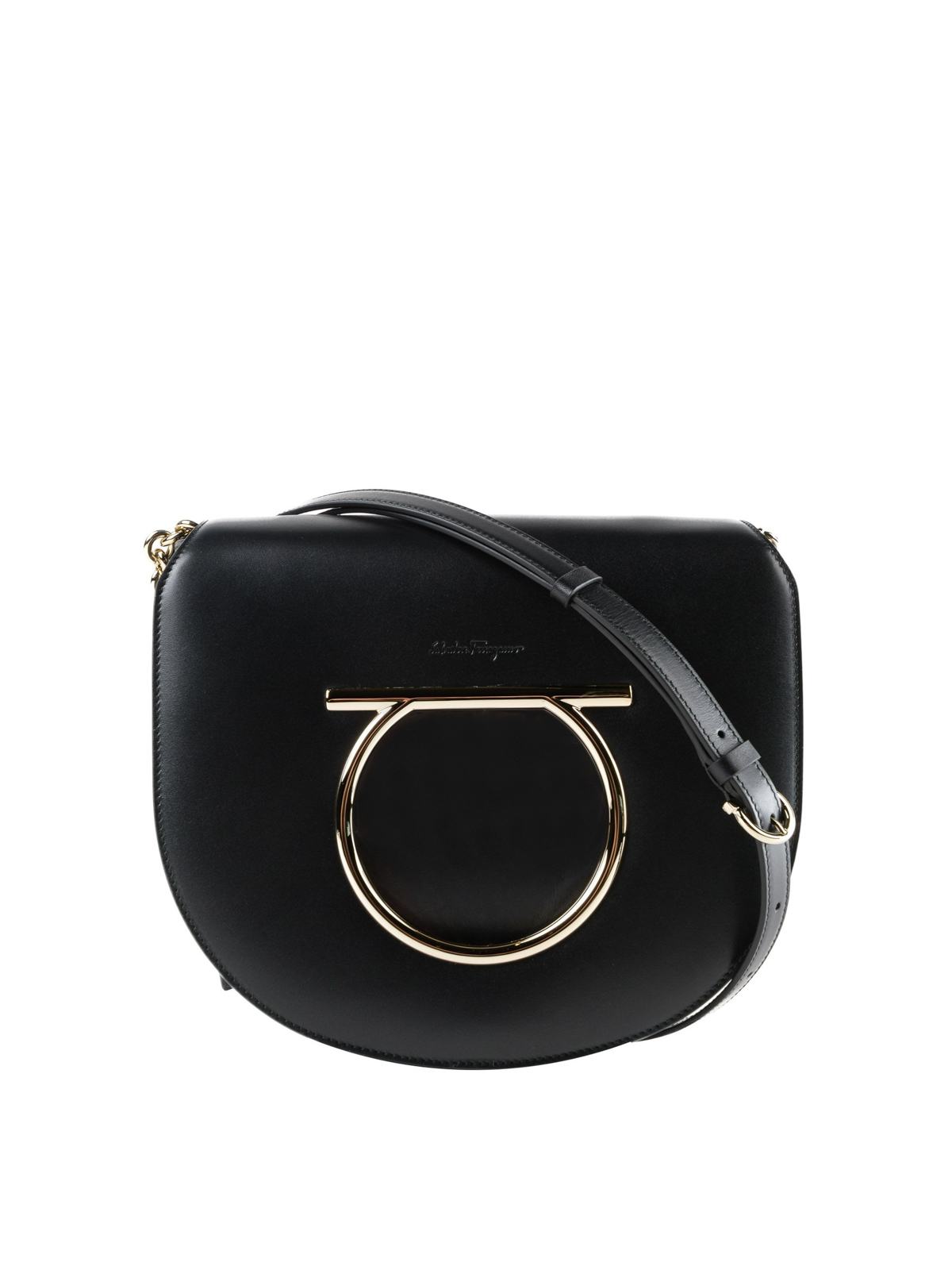 Salvatore Ferragamo - Vela black leather cross body bag - cross body ... a519ee924f1bb