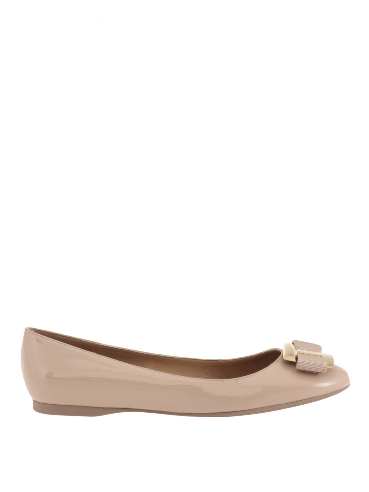 ninna patent leather flat shoes by salvatore ferragamo