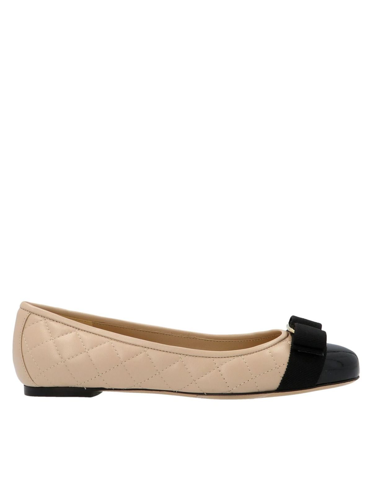 Salvatore Ferragamo Leathers QUILTED VARINA FLATS