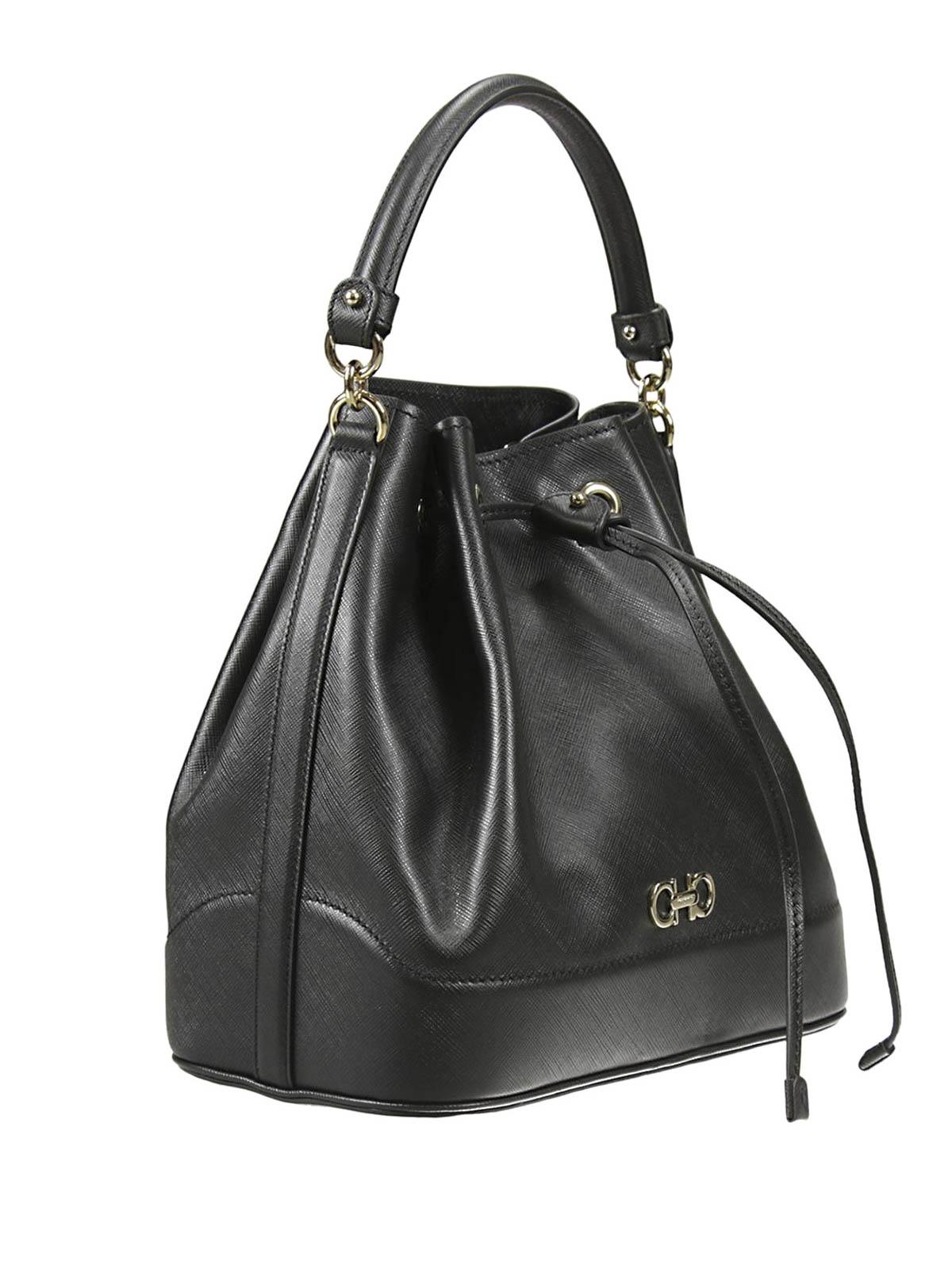 a62dfa568b8e SALVATORE FERRAGAMO  Bucket-bags online - Bucket-Bag Millie - Schwarz