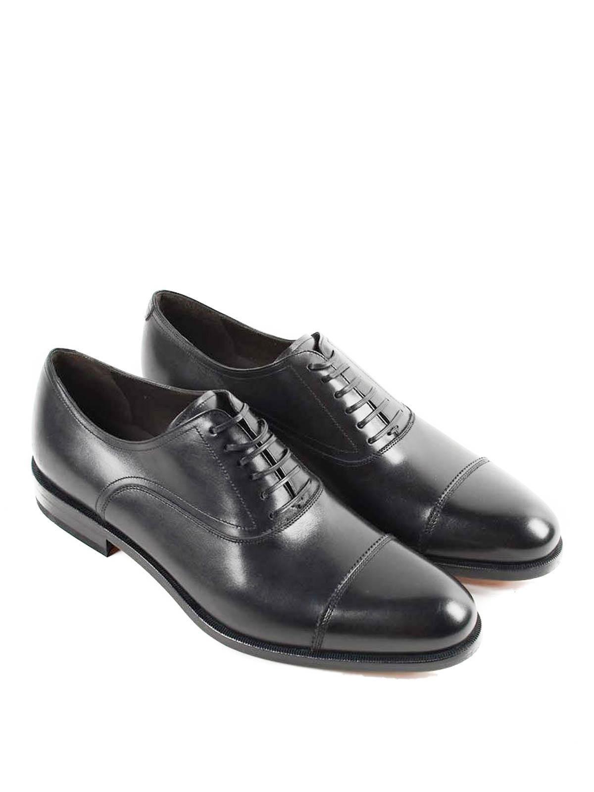 SALVATORE FERRAGAMO  Clásicos online - Zapatos Con Cordones Guru - Negro be117705d9