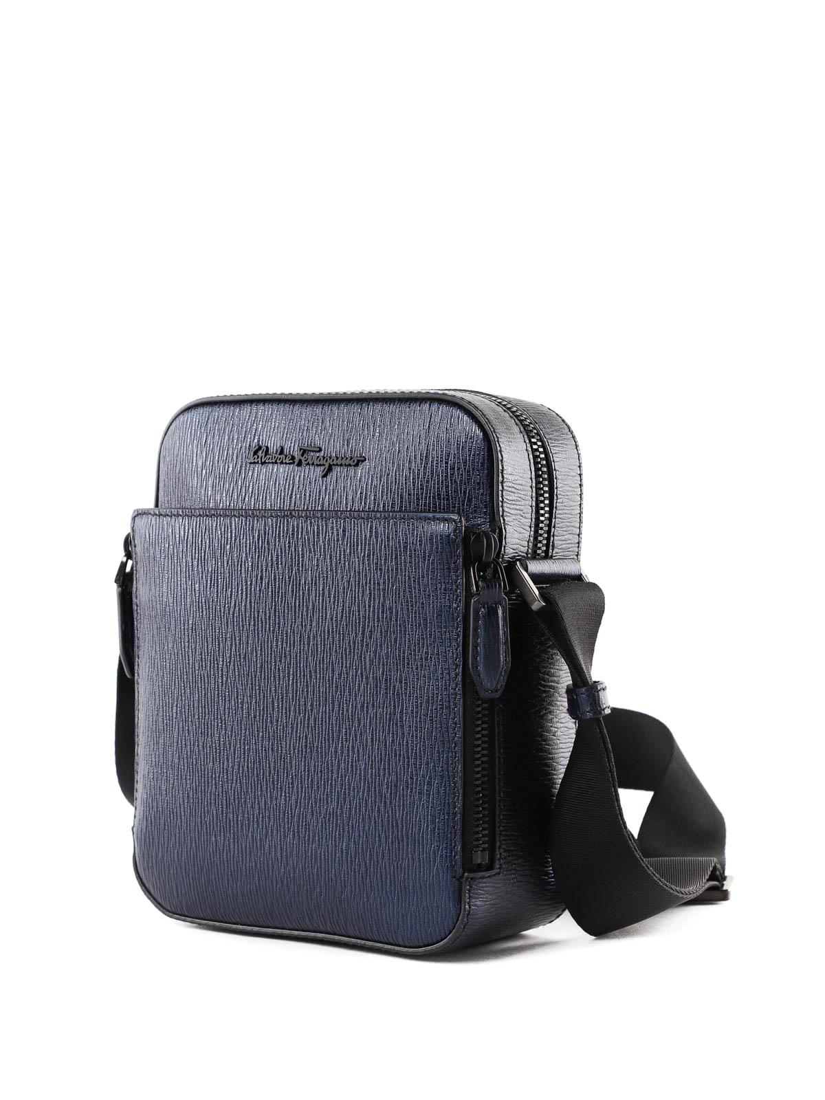 SALVATORE FERRAGAMO  cross body bags online - Dark blue leather crossbody  bag 6e3ffc6ac4b8a