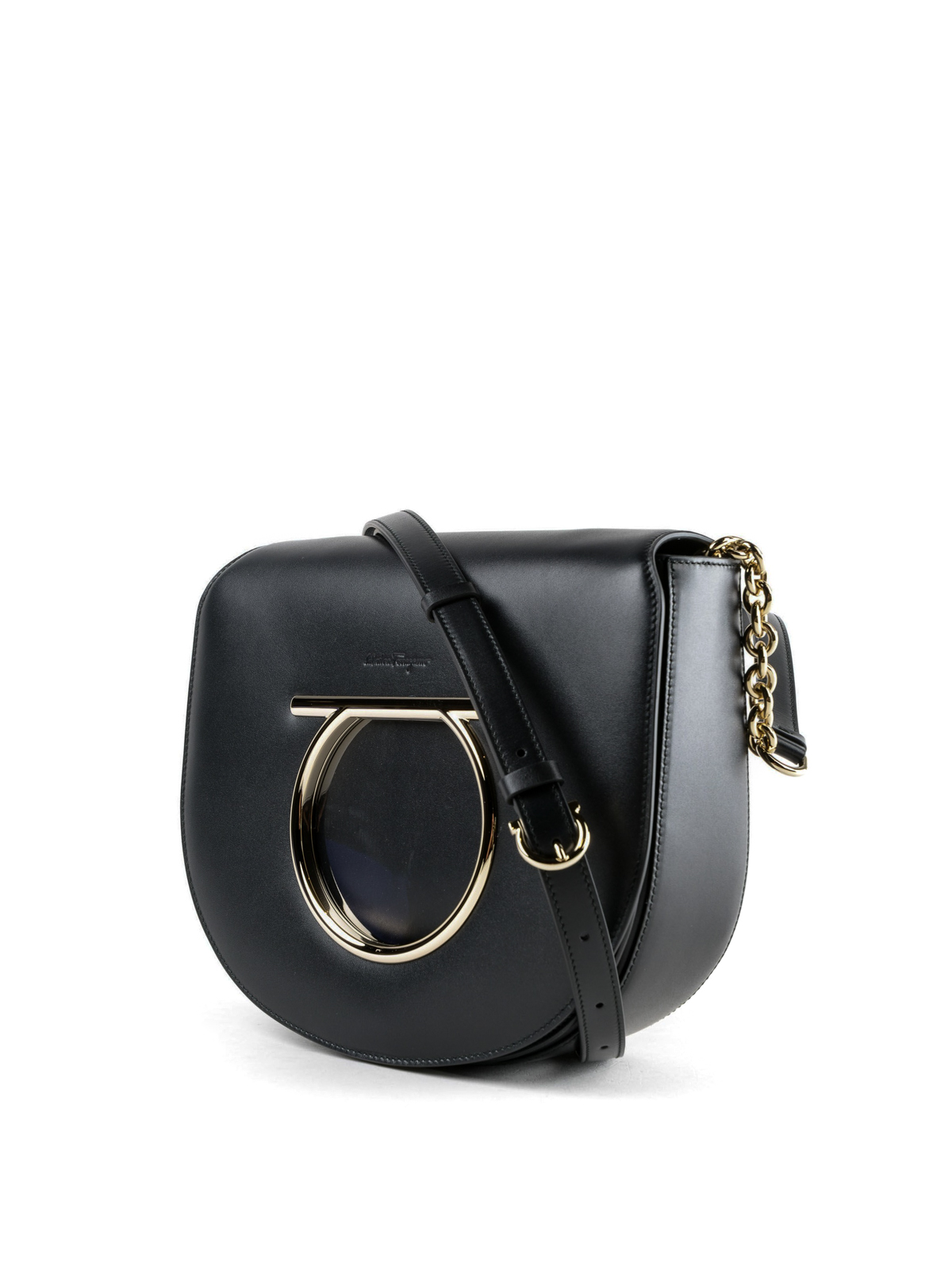 SALVATORE FERRAGAMO  cross body bags online - Vela black leather cross body  bag e7c6f94c61246