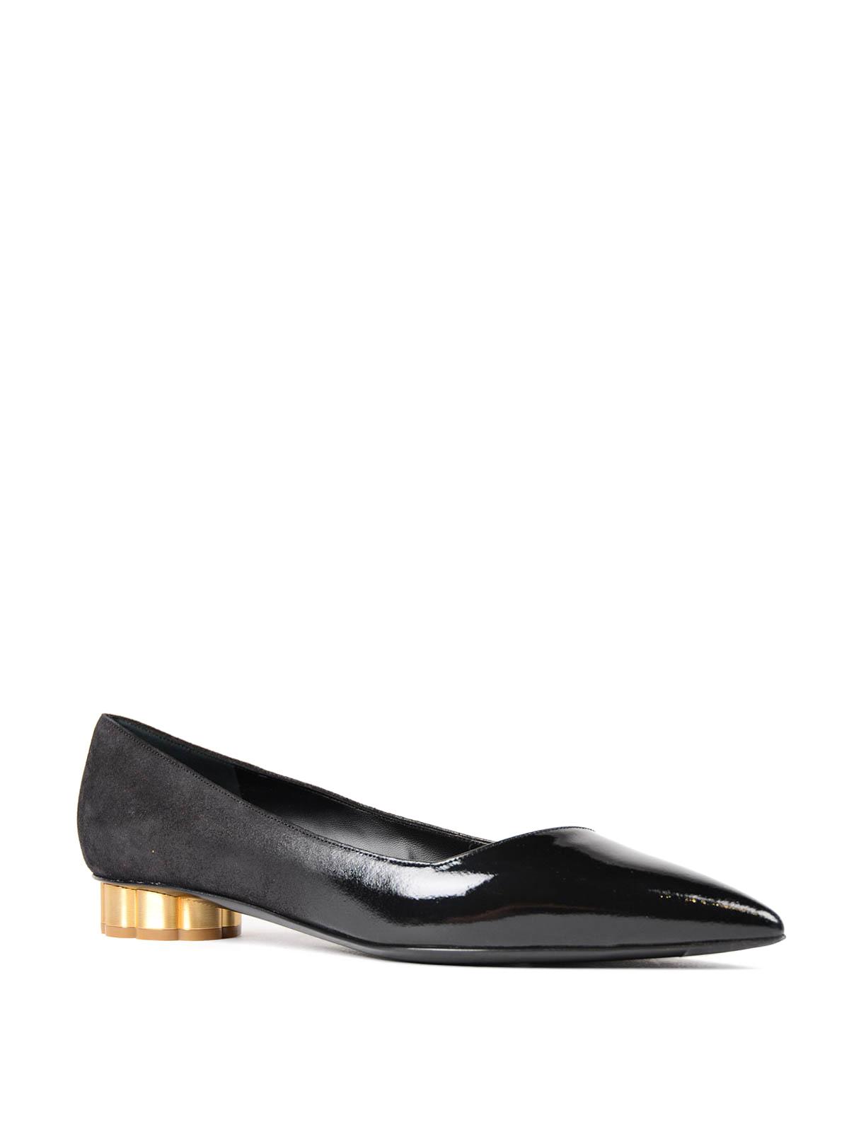 4560be503 SALVATORE FERRAGAMO: flat shoes online - Bari flower heel flats