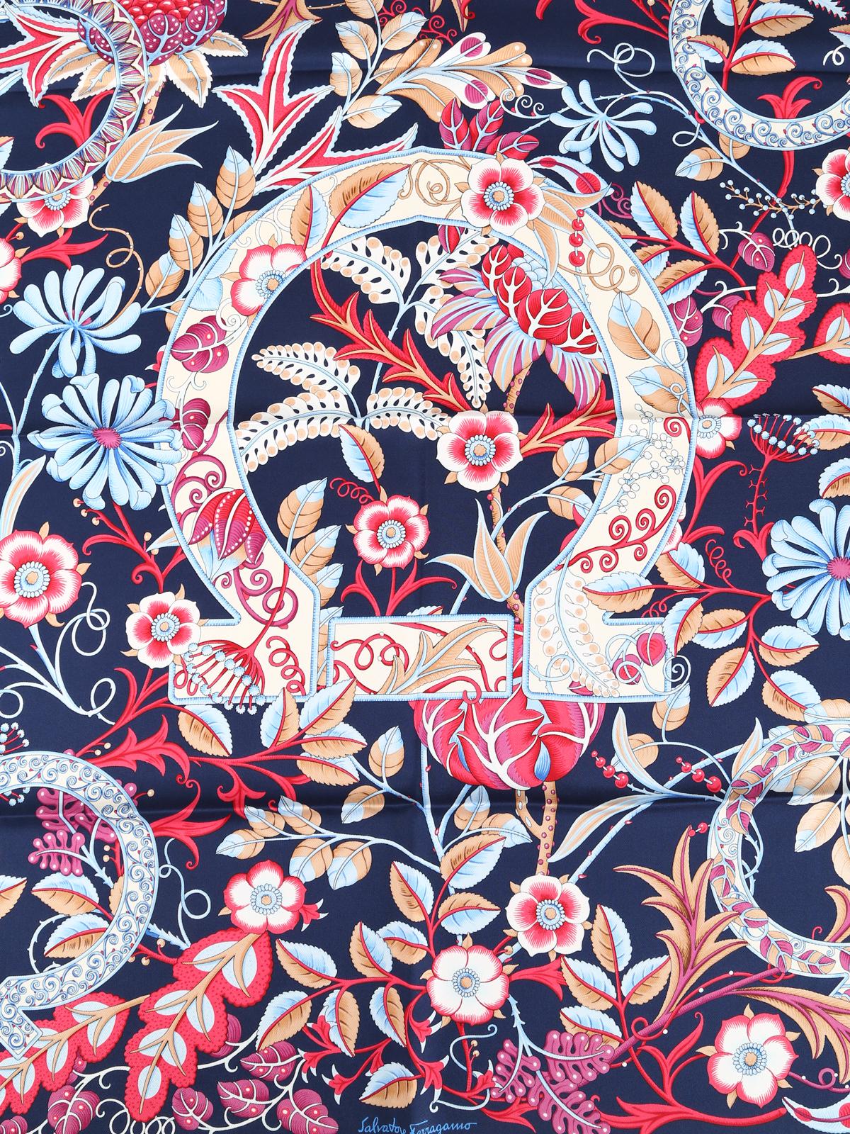 b89947f107abb Salvatore Ferragamo - Floral Gancini silk scarf - scarves - 31783 706697