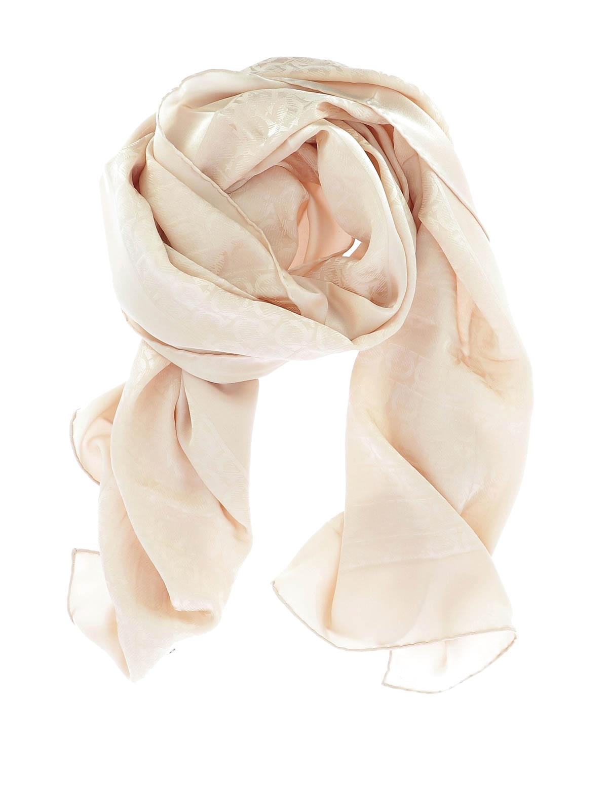 d9cff737d03a Salvatore Ferragamo - Stola The Ganci rosa - sciarpe e foulard - 704483