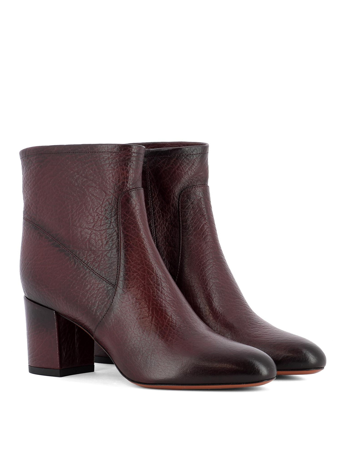 Santoni: ankle boots online - Shaded leather ankle boots