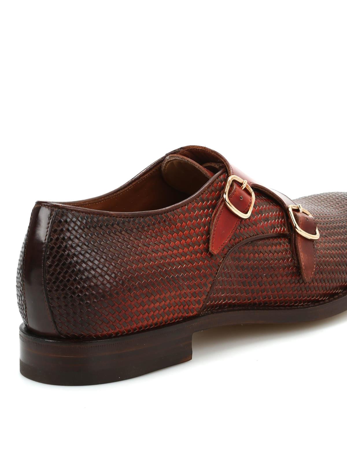 santoni Woven monk shoes X3FbFPR