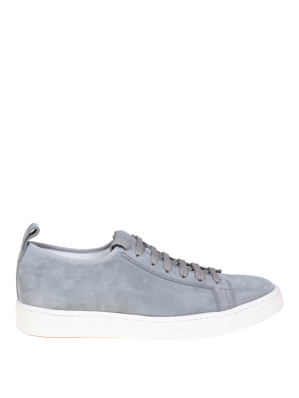 Santoni - Grey suede low top sneakers