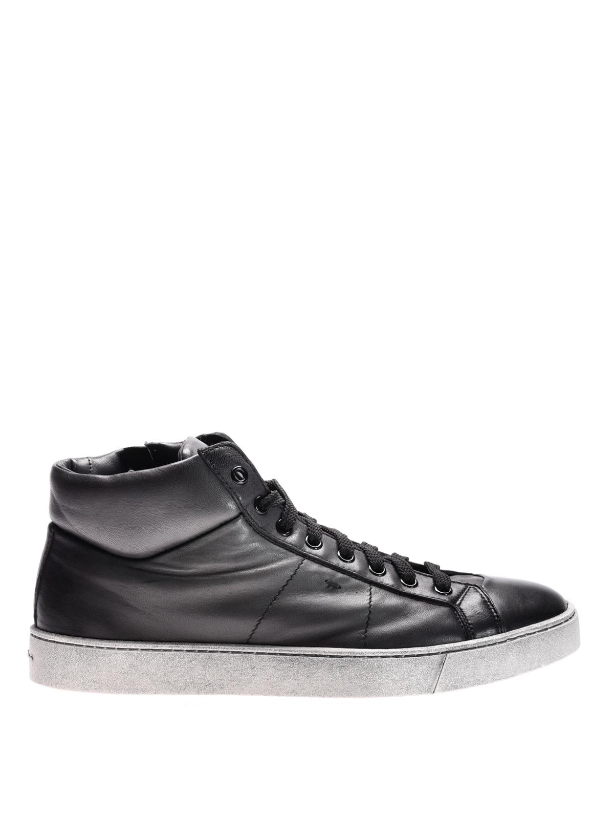 Santoni - Sneaker alte in pelle - sneakers - MBGU20532PASRGOOG62 4db2e504a04