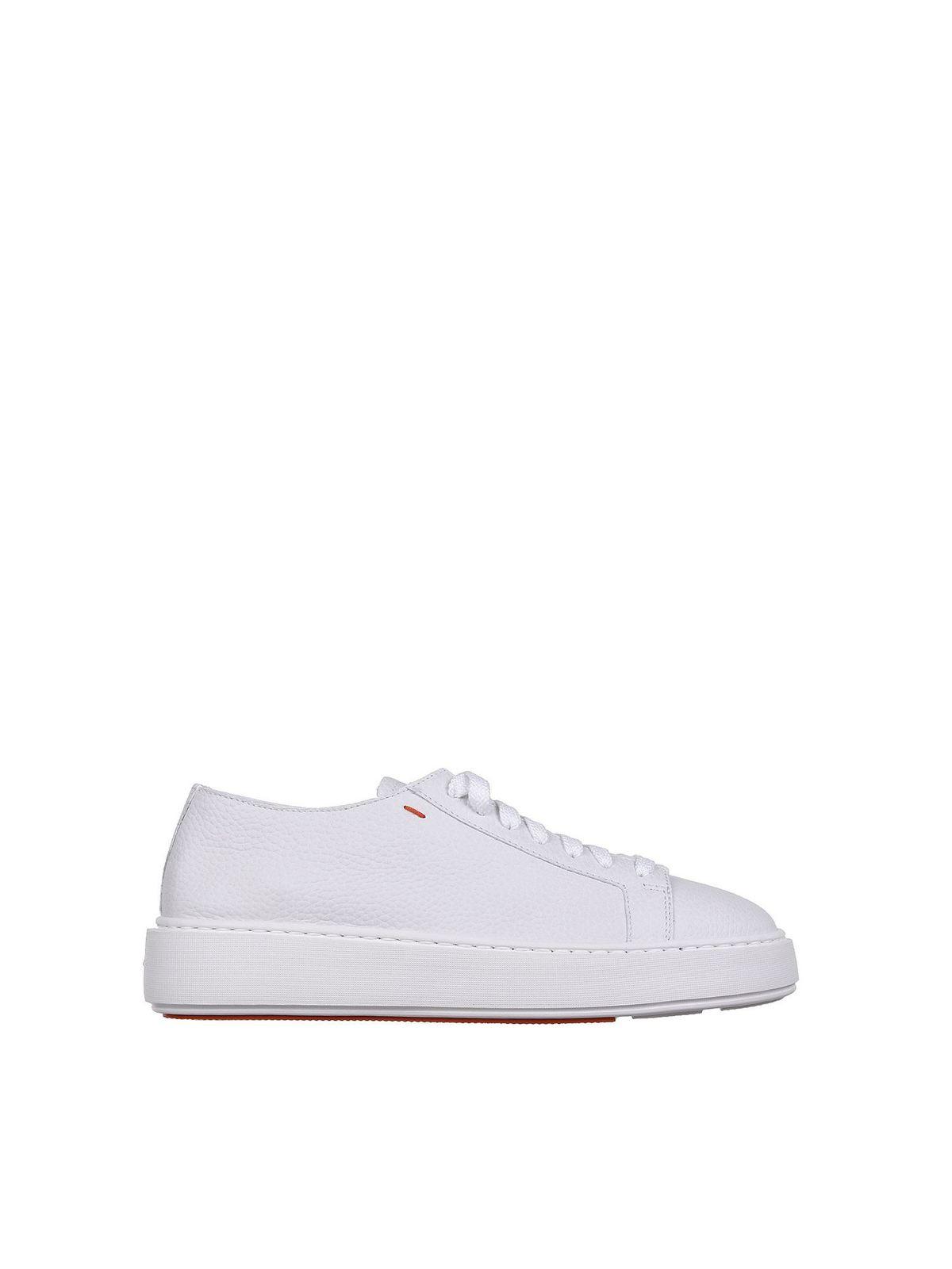 Santoni Sneakers LOW TOP SNEAKERS IN WHITE