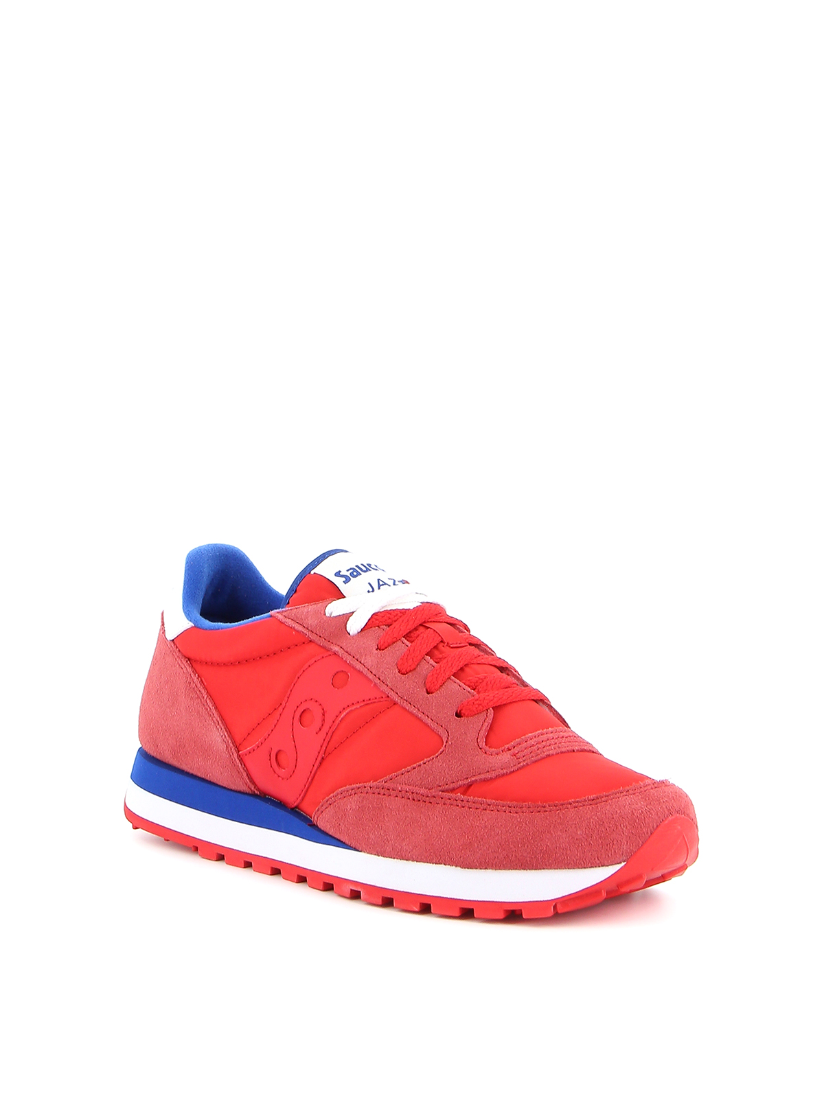 Jazz Original red and blue trainers