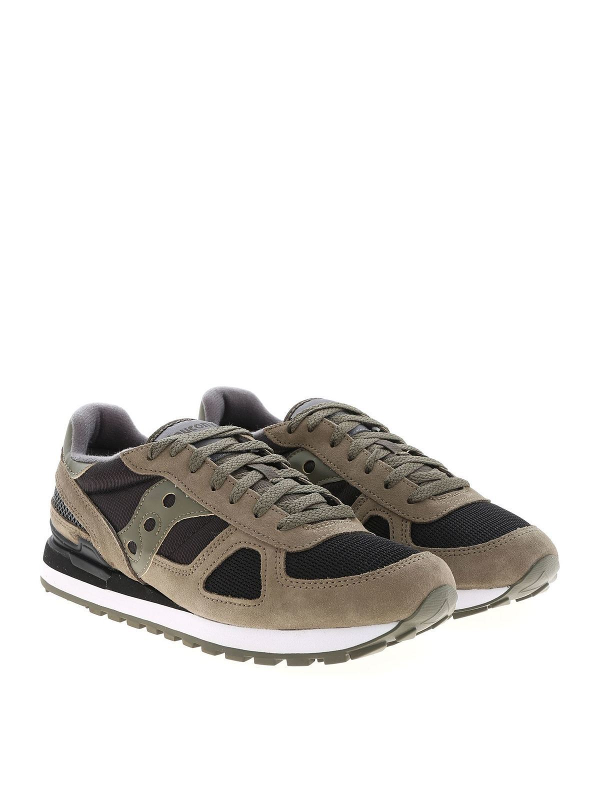 Saucony - Olive green and black Shadow