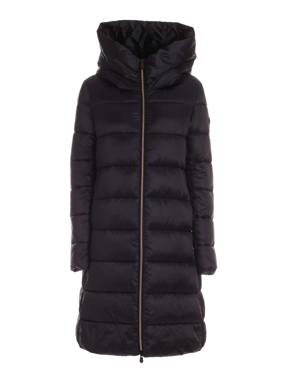 Save The Duck LONG DOWN JACKET IN BLACK