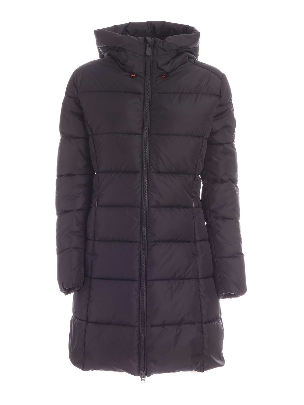 Save The Duck MEGAY DARK GREY DOWN JACKET WITH HOOD