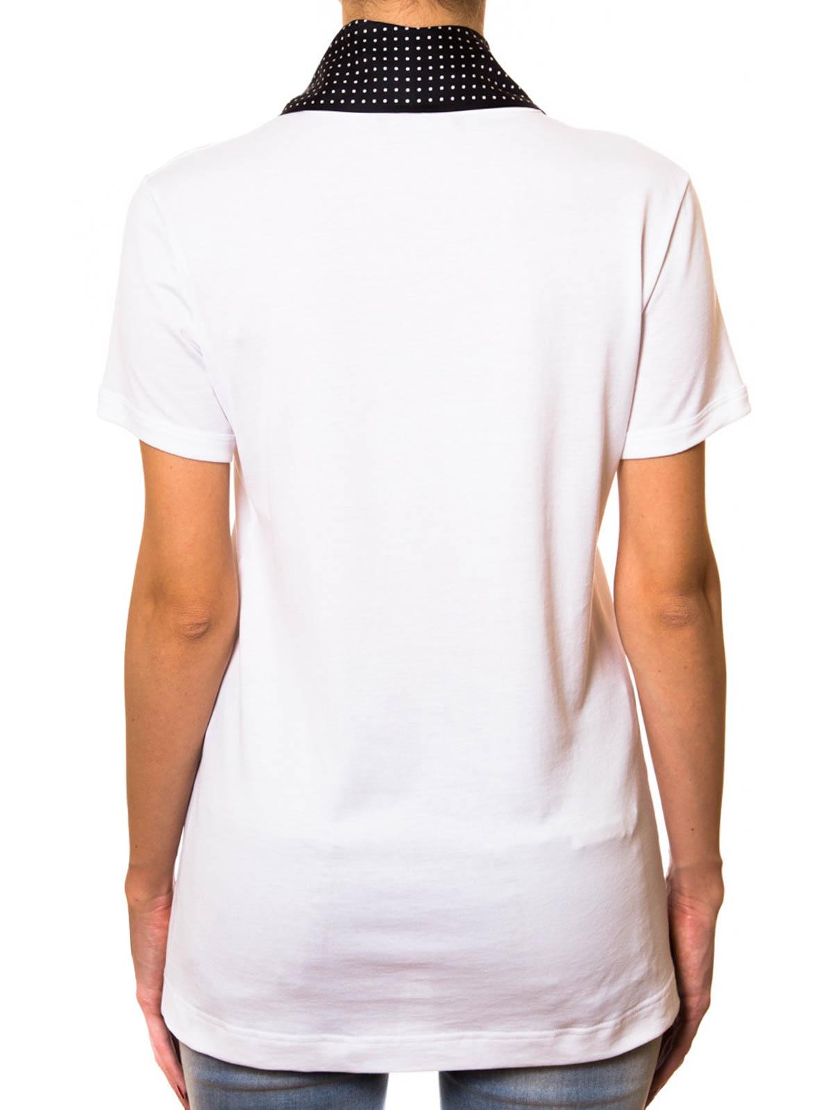 dolce gabbana scarf detailed t shirt t shirts f8h08tfu7eqs9008. Black Bedroom Furniture Sets. Home Design Ideas