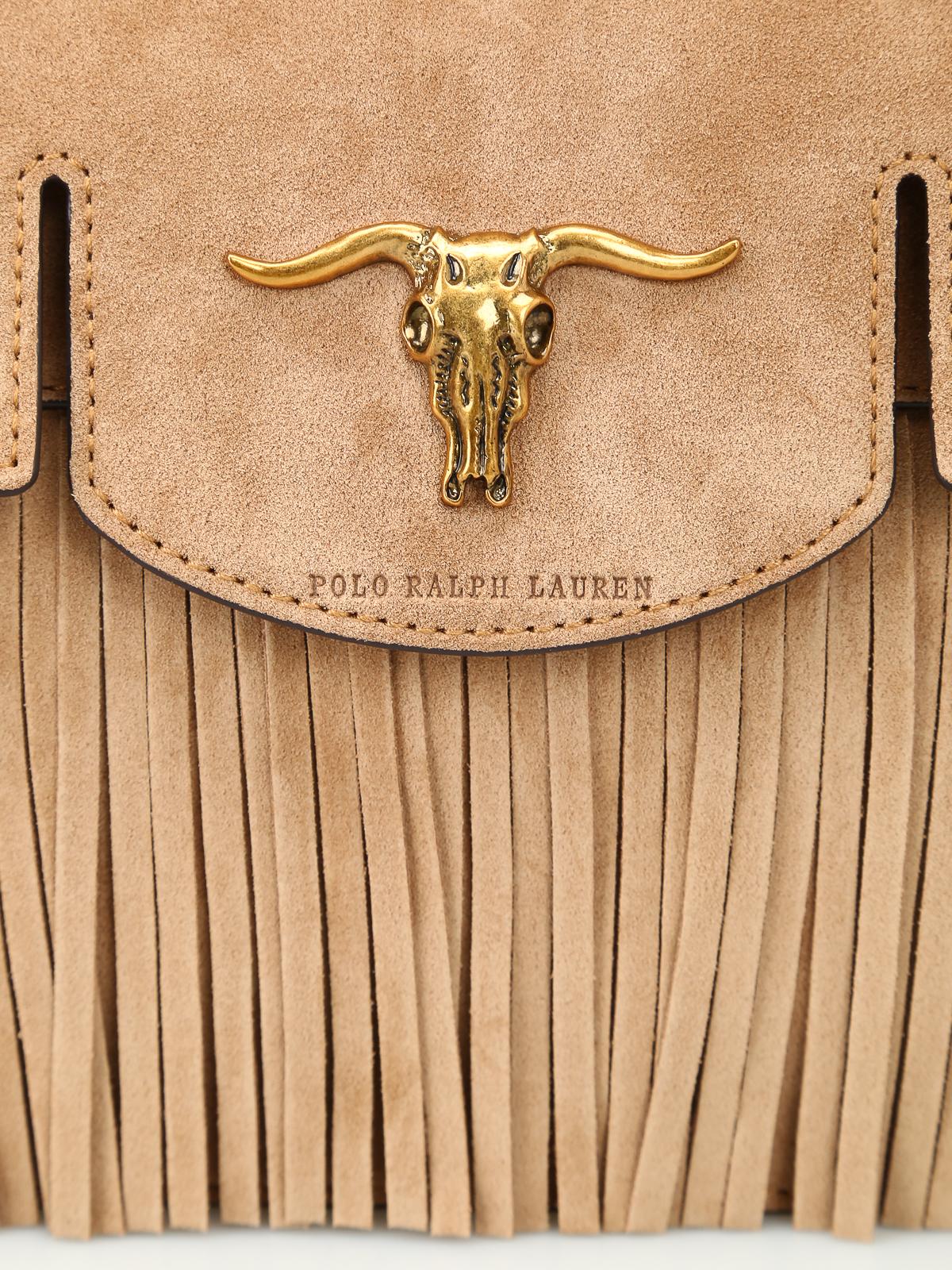 167c21e8b5 Polo Ralph Lauren - Schooly small suede satchel bag - cross body ...