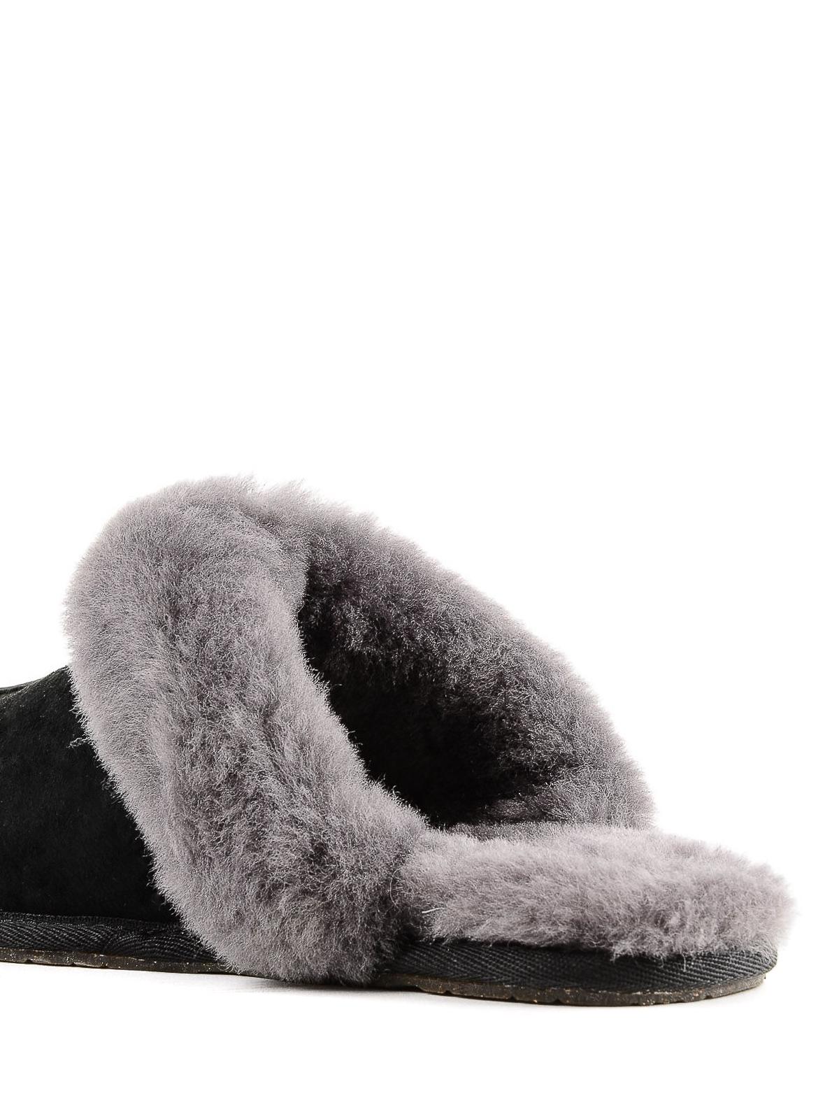 b9944b8a5fd Ugg - Scuffette II slippers - mules shoes - 5661BLACKGREY | iKRIX.com
